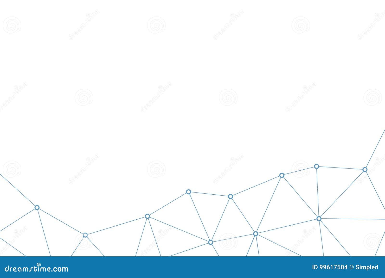 Modelo abstracto del triángulo del vector Fondo poligonal geométrico de la red Líneas y ejemplo infographic de la conexión de los