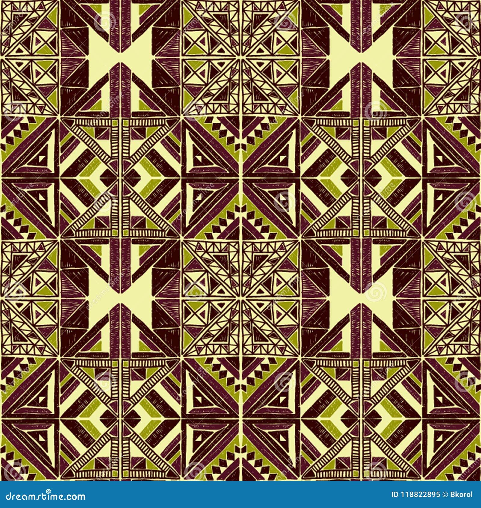 Modelo Africano Inconsútil Ornamento étnico En La Alfombra Estilo