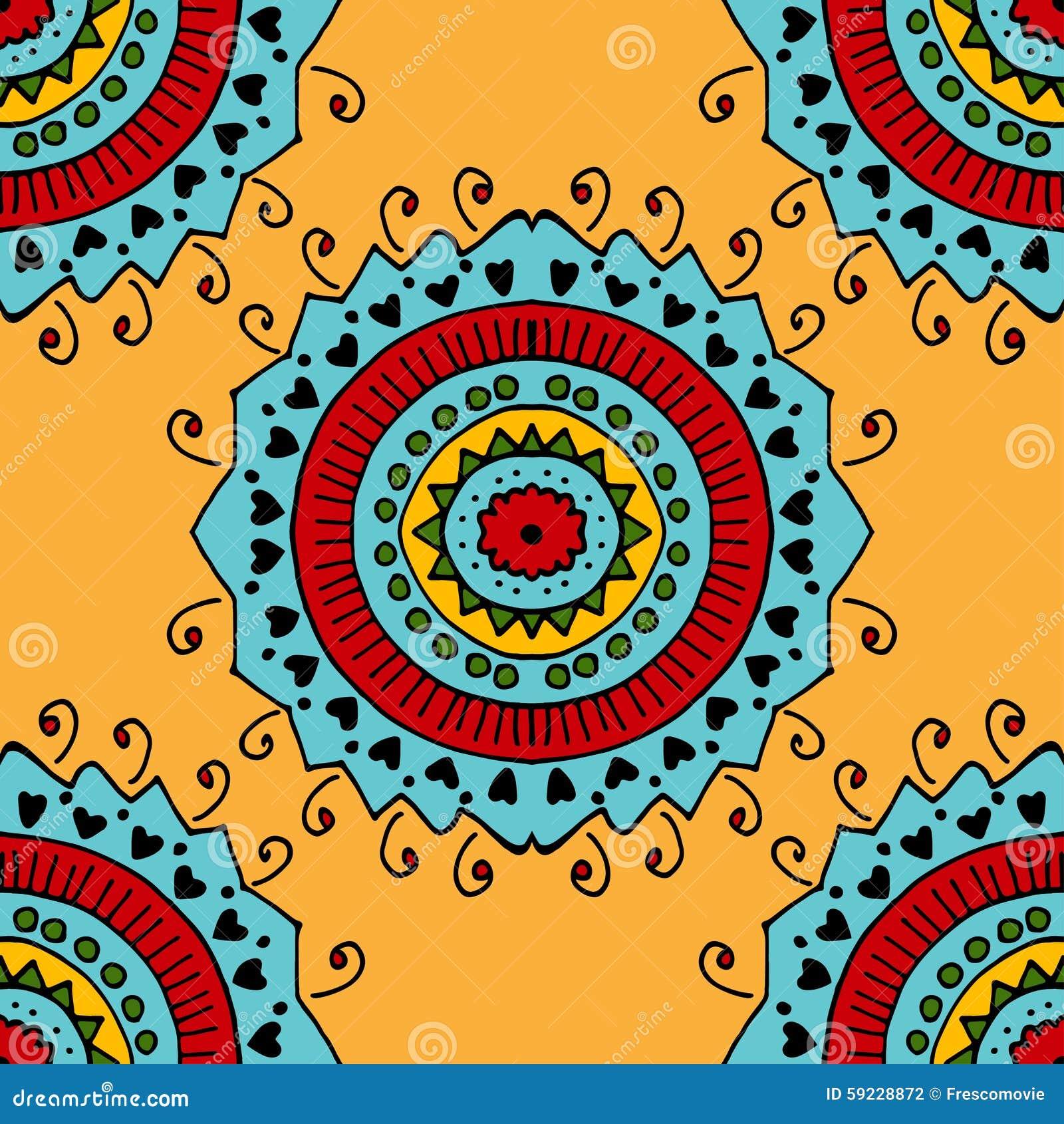 Download Modelo amarillo inconsútil ilustración del vector. Ilustración de alfombra - 59228872