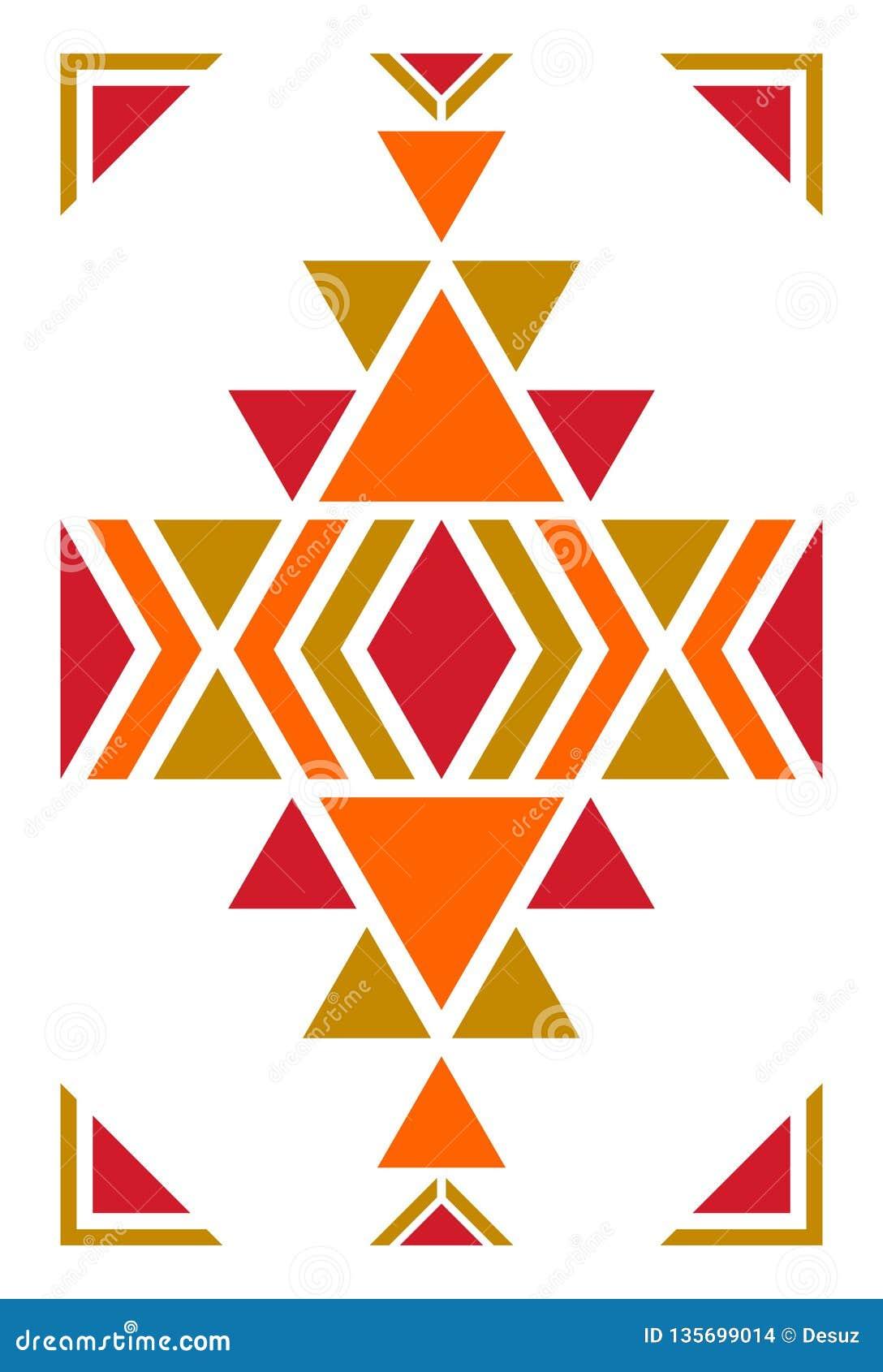 Modelo americano Ornamento inconsútil geométrico