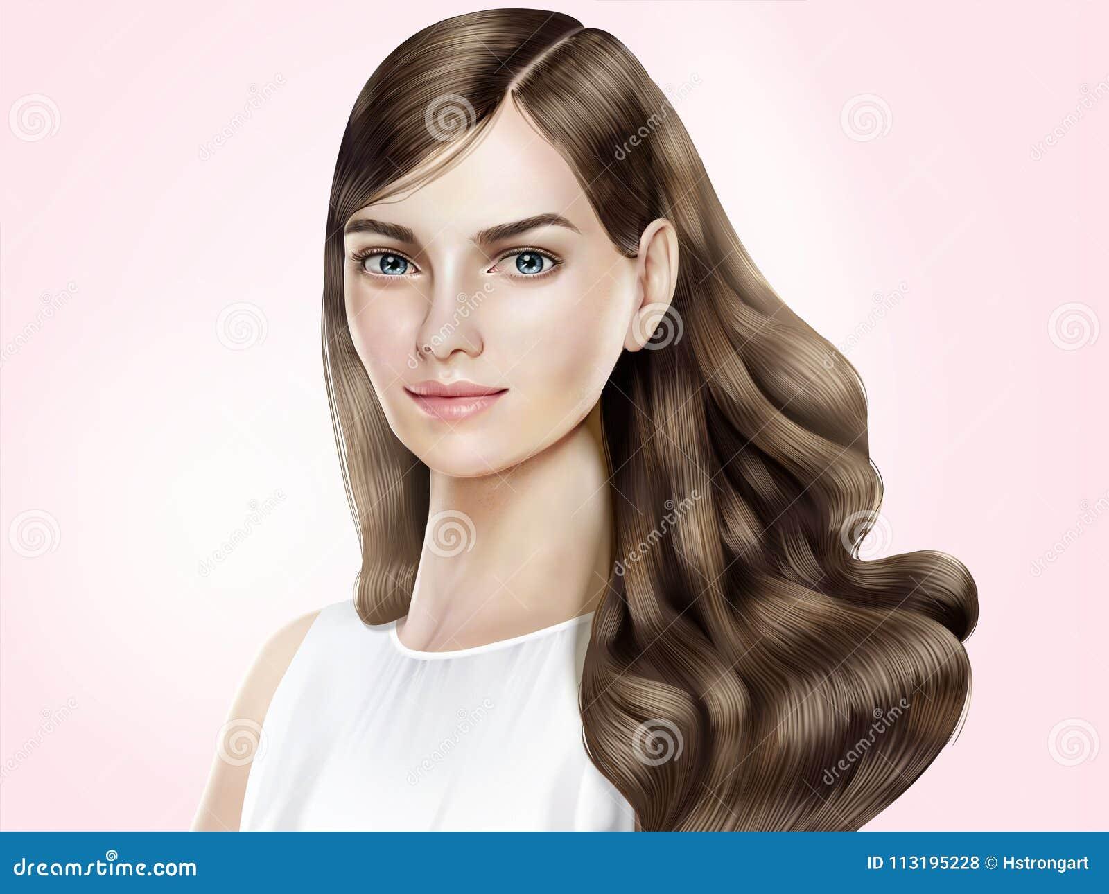 Modelo atrativo do cabelo