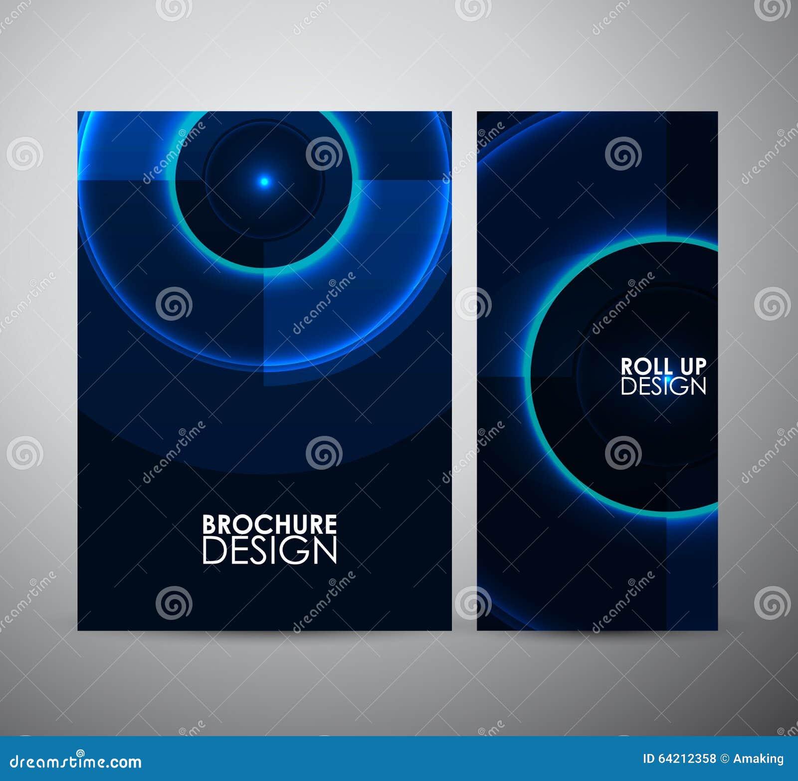 Modelo azul abstracto del círculo Plantilla gráfica del diseño de los recursos