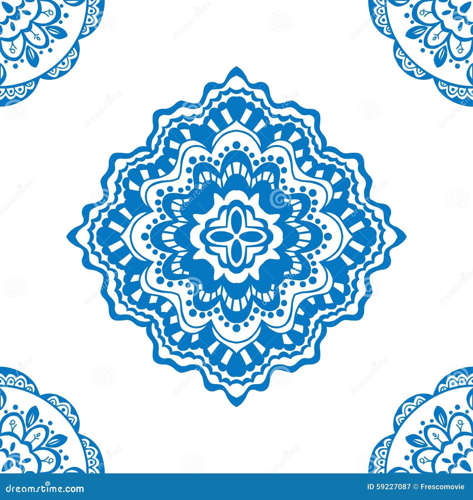 Download Modelo azul inconsútil ilustración del vector. Ilustración de exótico - 59227087