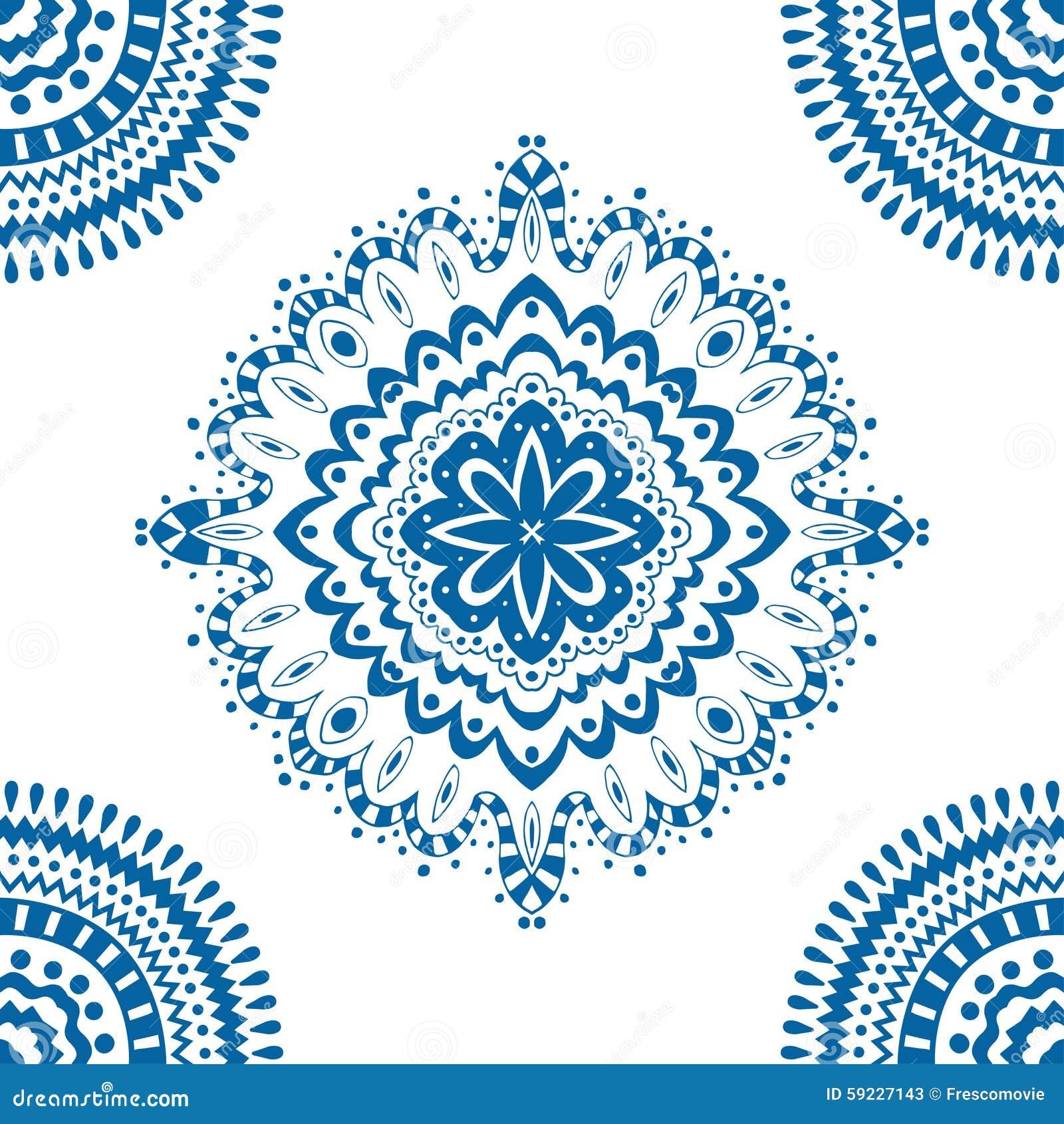 Download Modelo azul inconsútil ilustración del vector. Ilustración de azul - 59227143