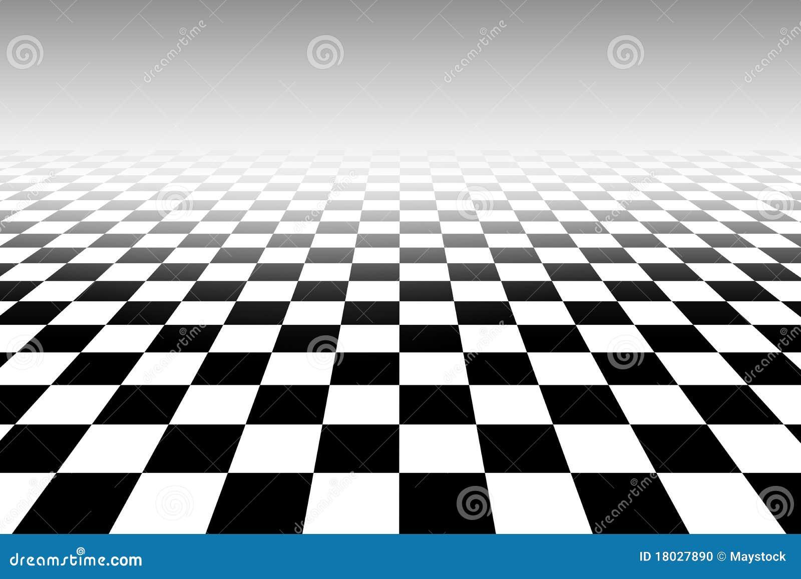 Modelo blanco y negro del tablero de ajedrez de for Papel pintado blanco y negro