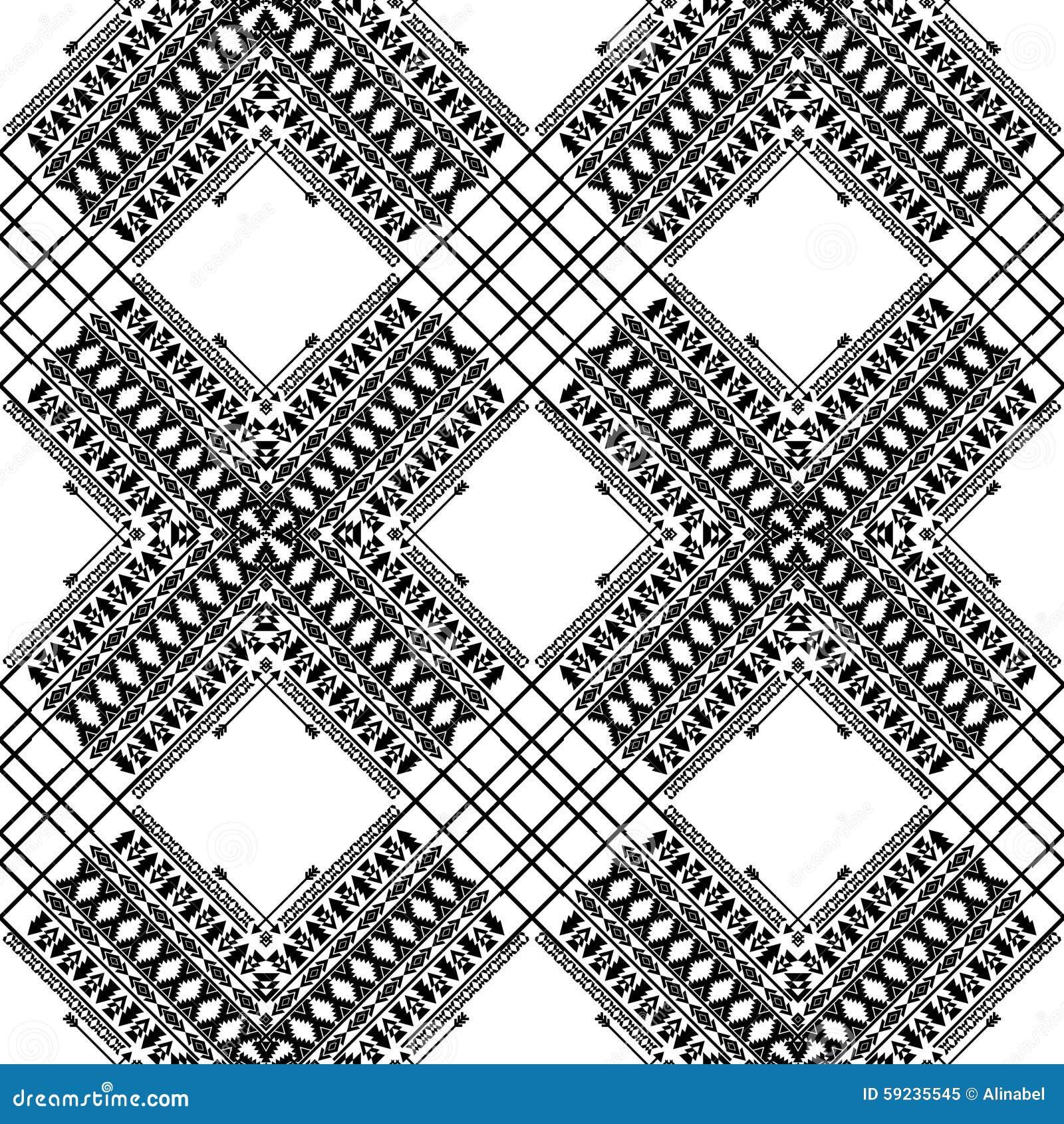 Download Modelo Blanco Y Negro Del Vector Ilustración del Vector - Ilustración de ilustración, maya: 59235545