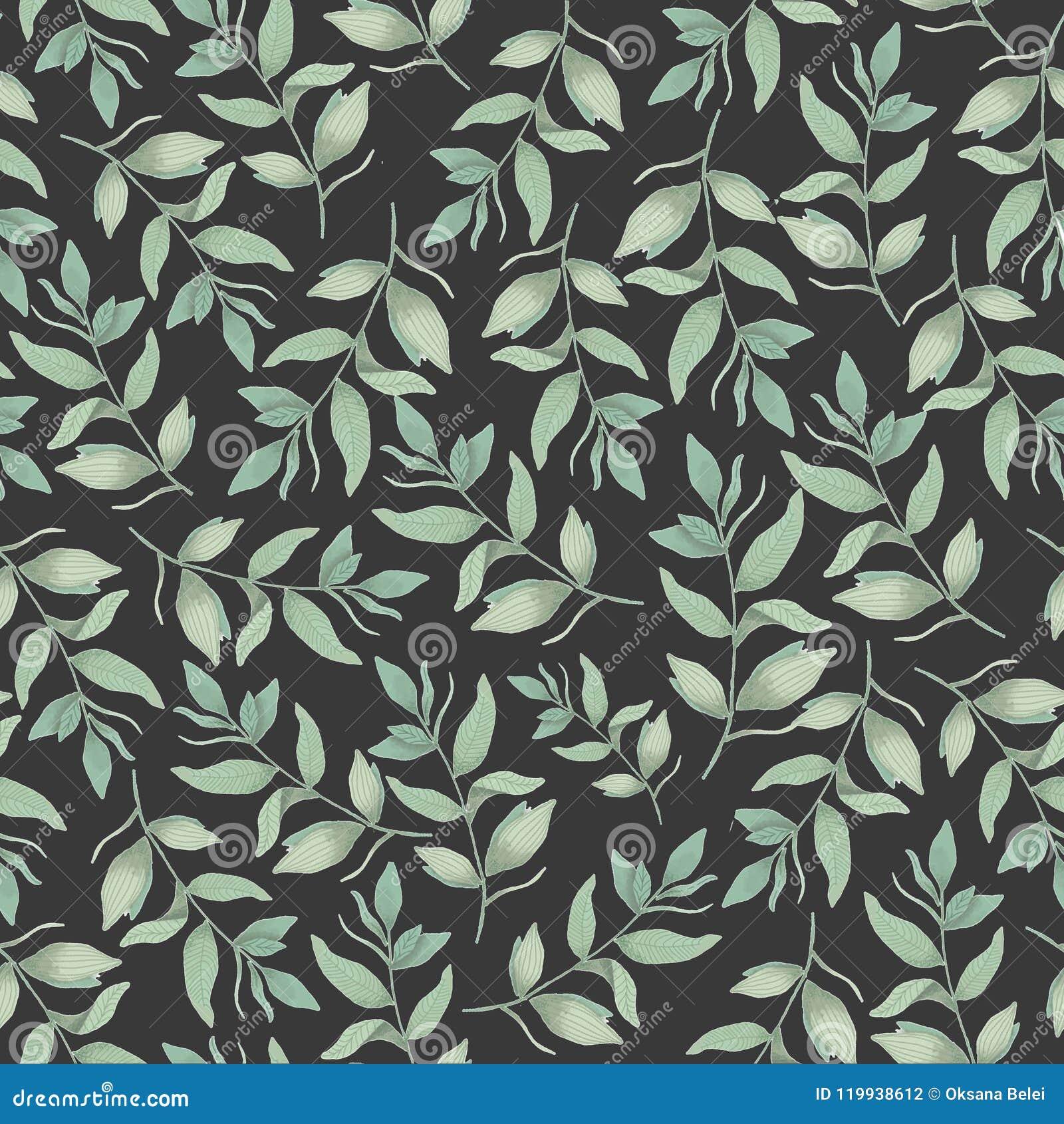 Modelo botánico inconsútil, fondo para las telas, materias textiles, papel, papel pintado