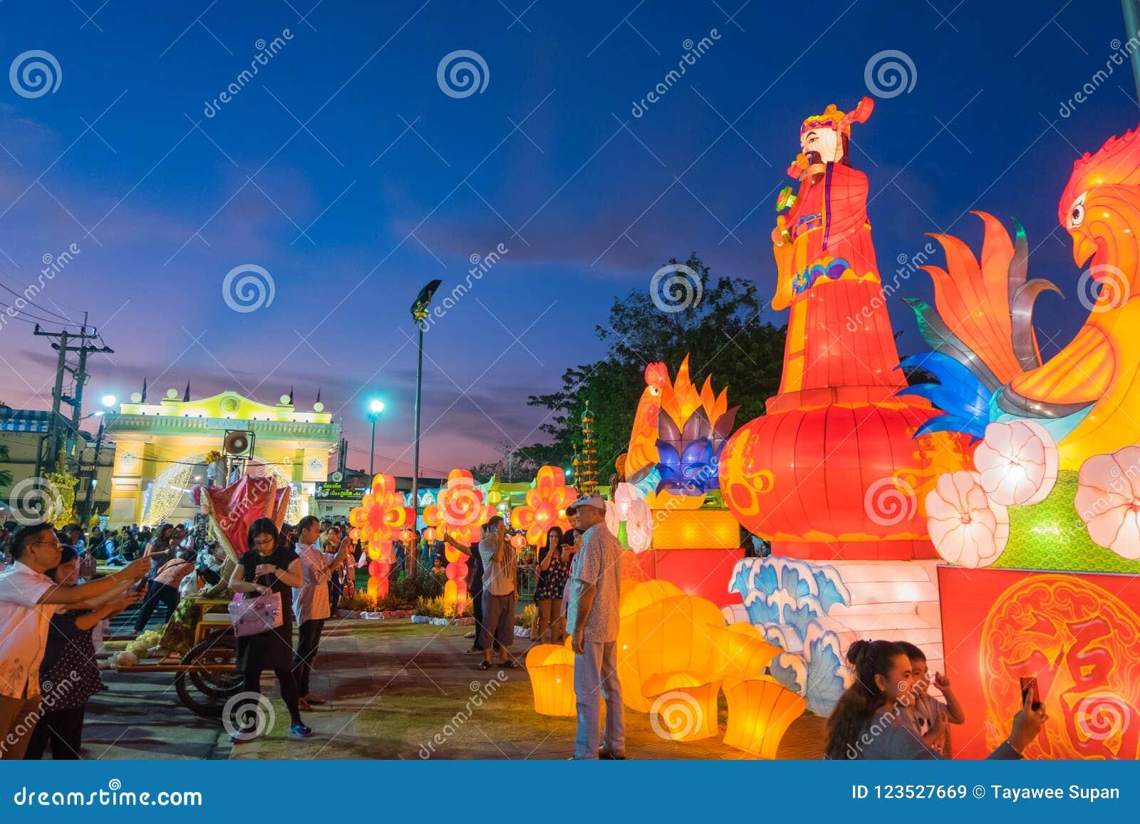 Modelo chinês do ano novo do 18os Ano Novo de Phuket e o chineses