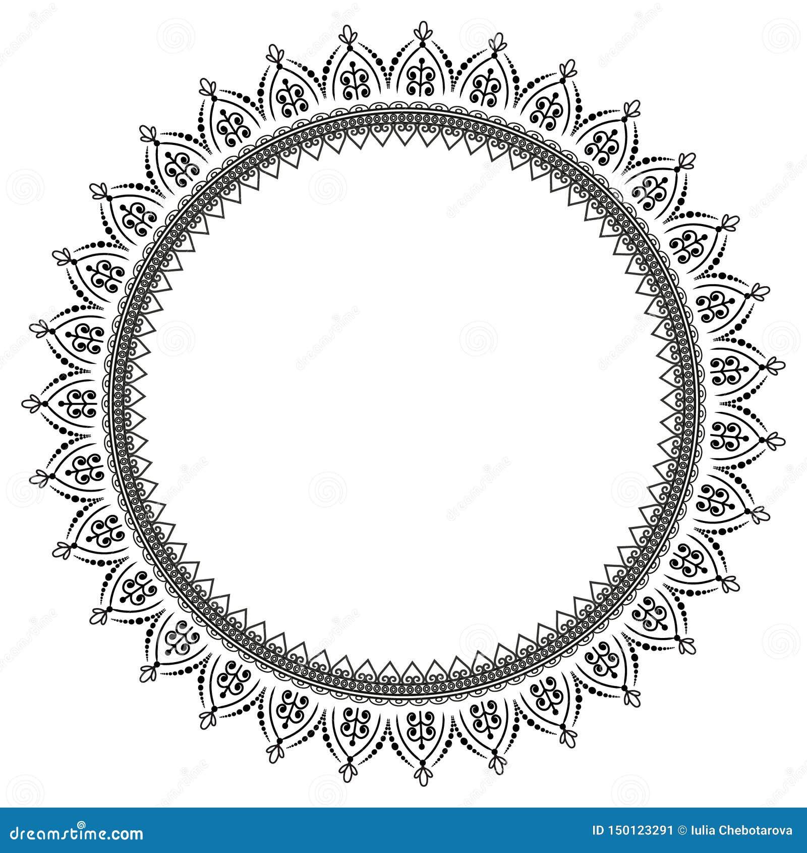 Modelo circular en la forma de mandala para la alhe?a Mehndi/