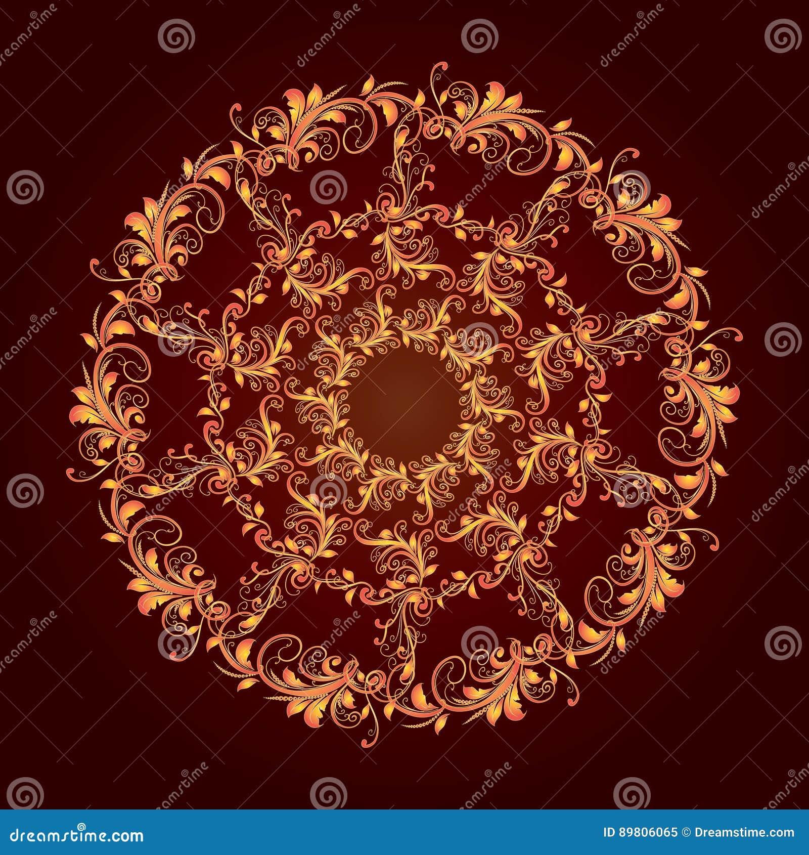 Modelo circular hermoso de floral