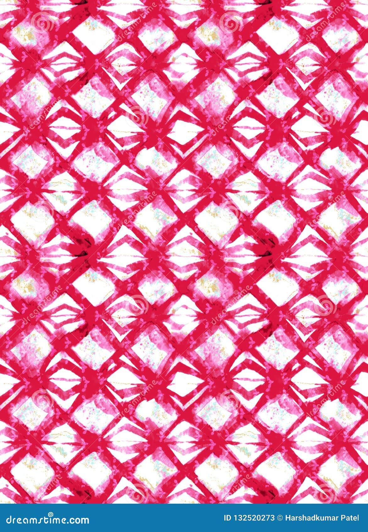 Modelo colorido abstracto de la impresión de bloque