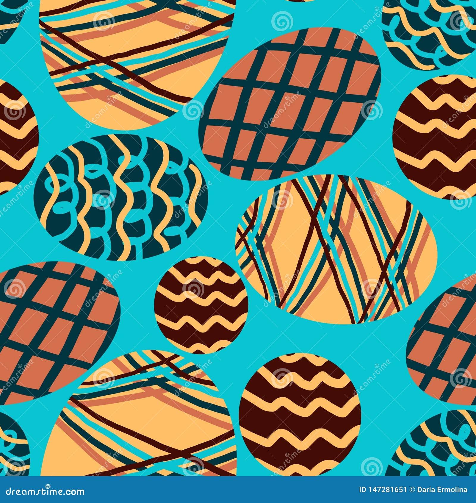 Modelo con los huevos coloreados en un fondo azul