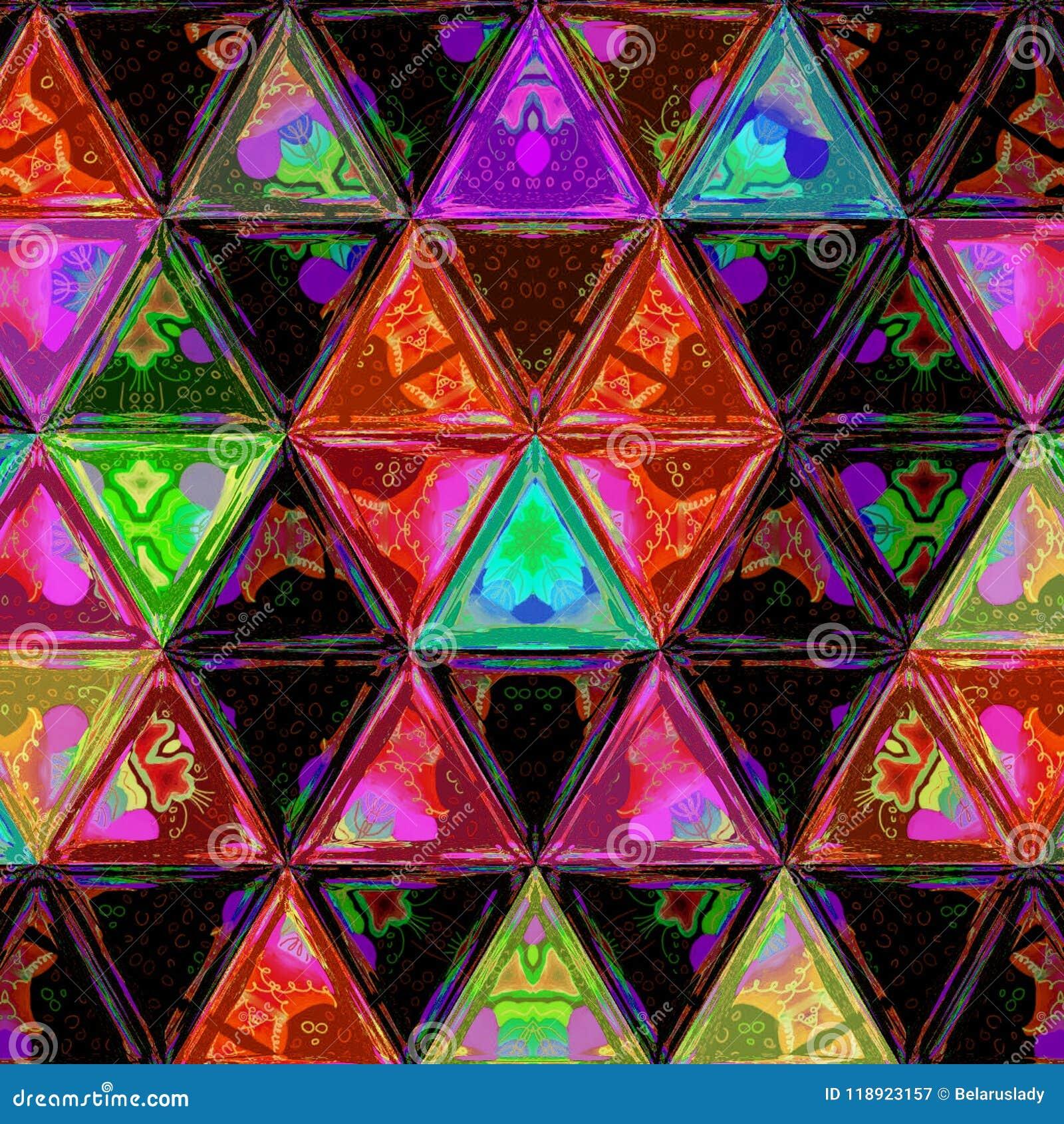 Modelo continuo del inconformista moderno de los triángulos de la acuarela