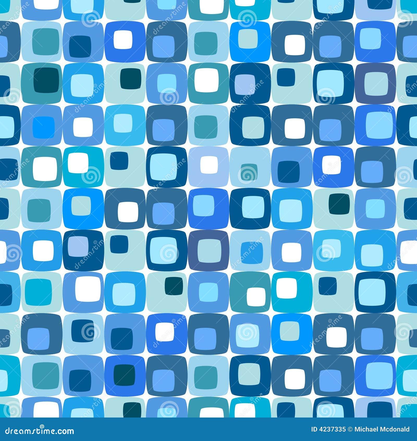 Modelo cuadrado azul retro