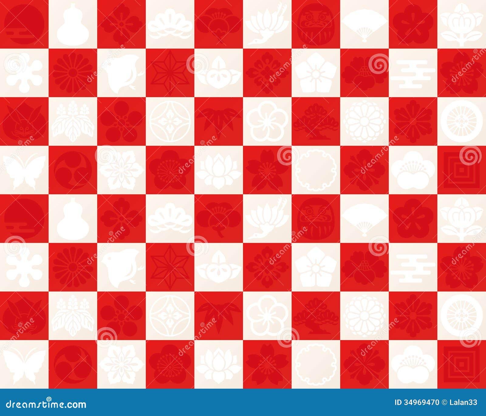 Modelo a cuadros rojo y blanco a utilizar para el dise o for Papel pintado rojo y blanco