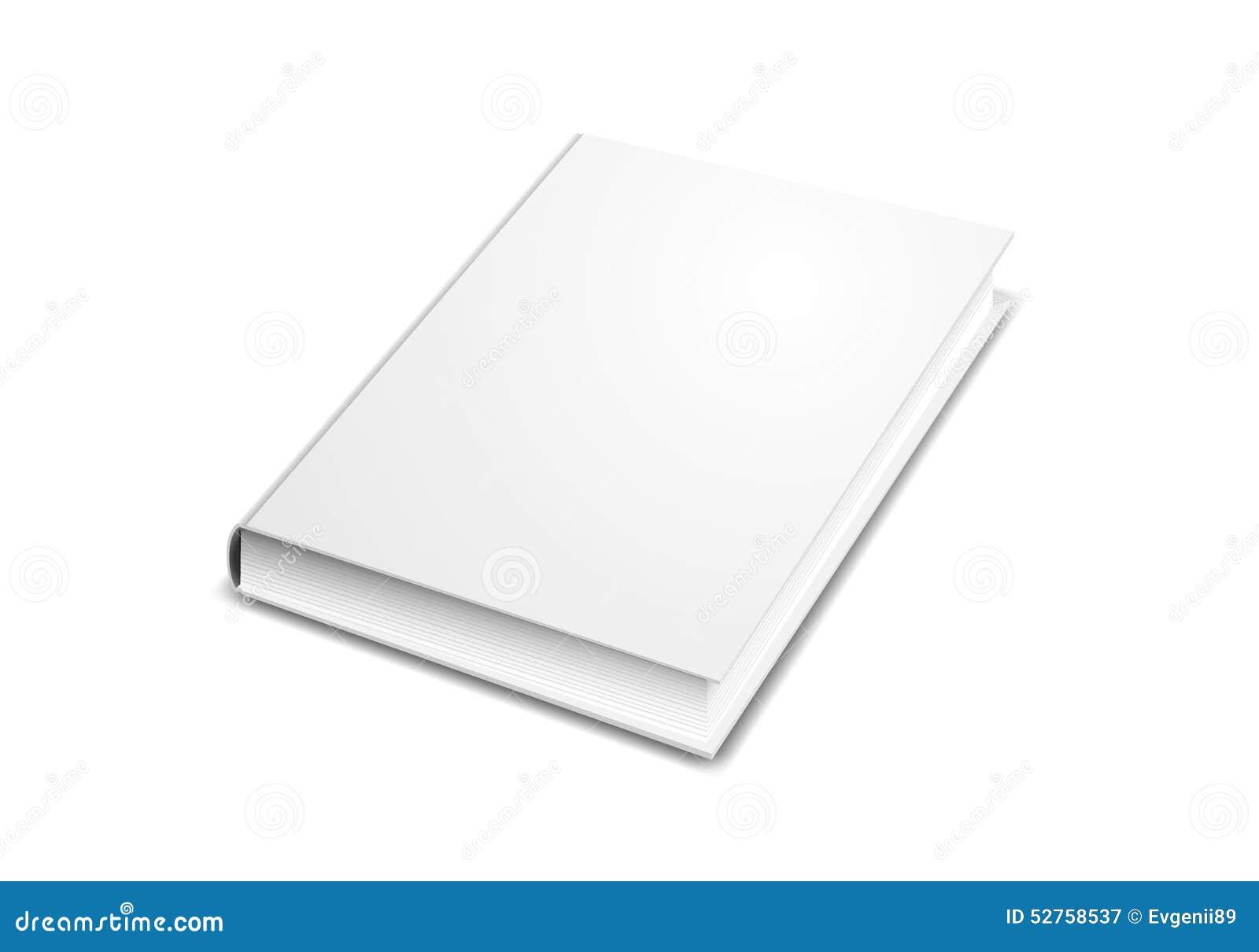 Modelo Da Capa Do Livro Isolado No Branco Ilustração do Vetor - Ilustração de
