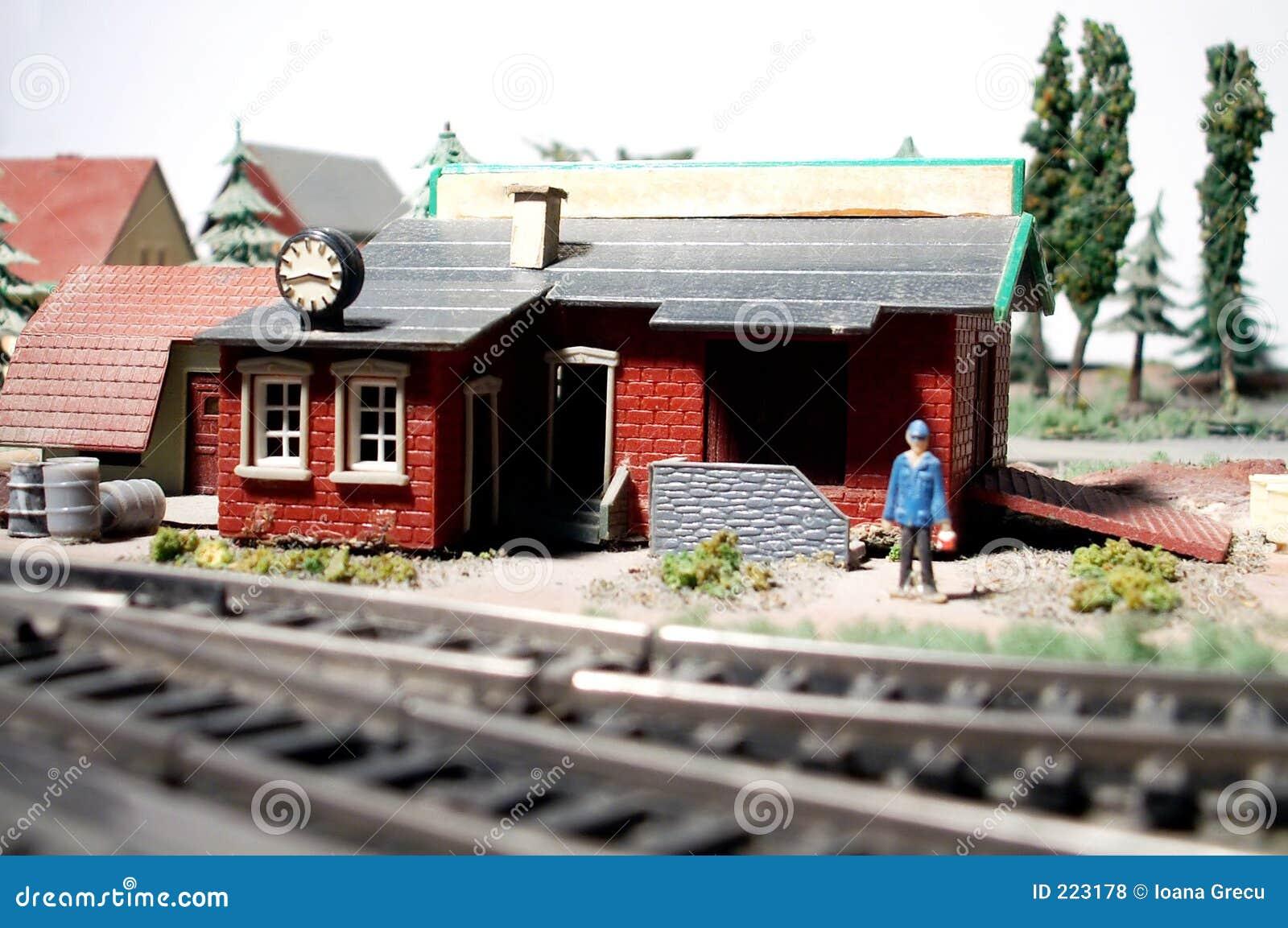 Modelo da estação de comboio