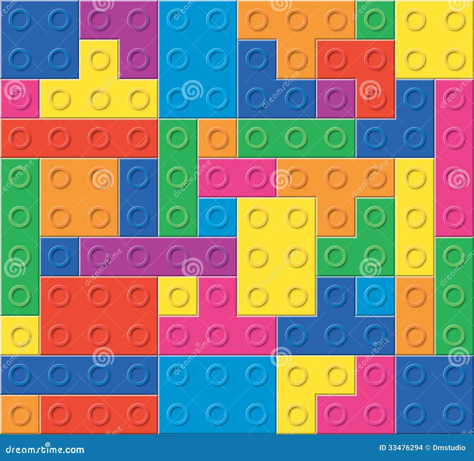 Modelo de bloques plásticos coloridos