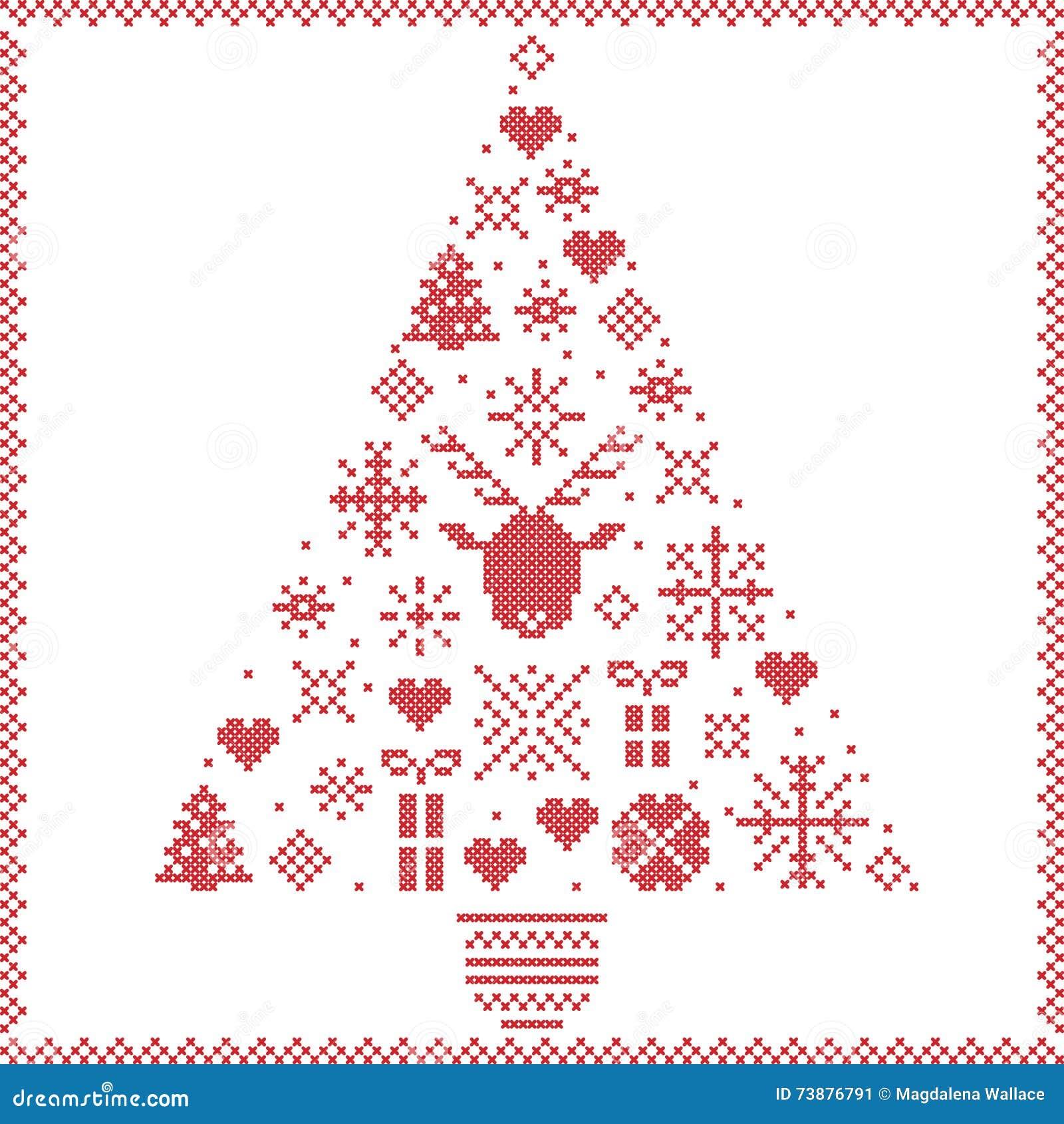 Modelo De Costura De La Navidad Del Invierno Noruego Escandinavo Del ...