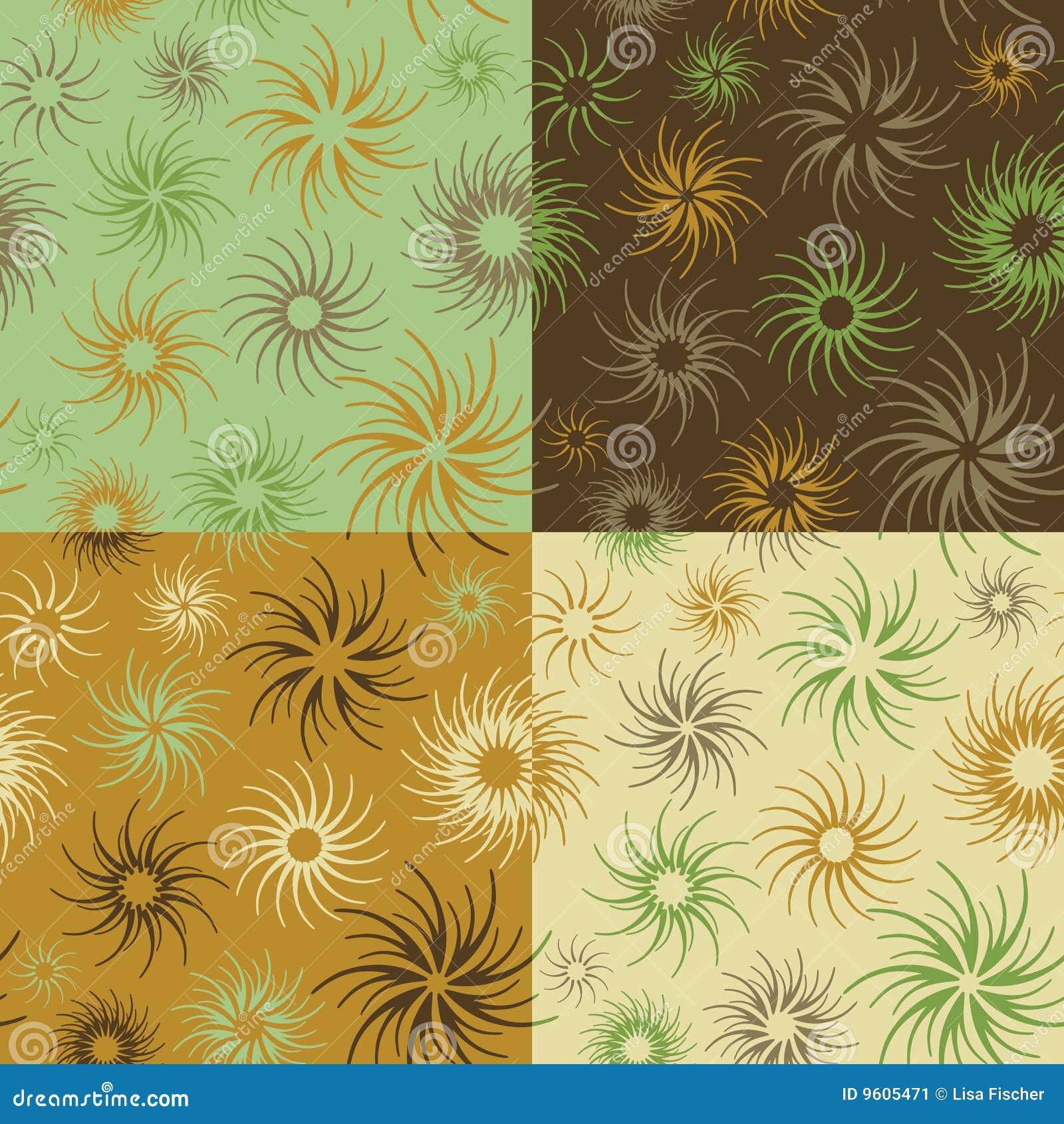 Modelo de flor del fuego en Verde-Brown