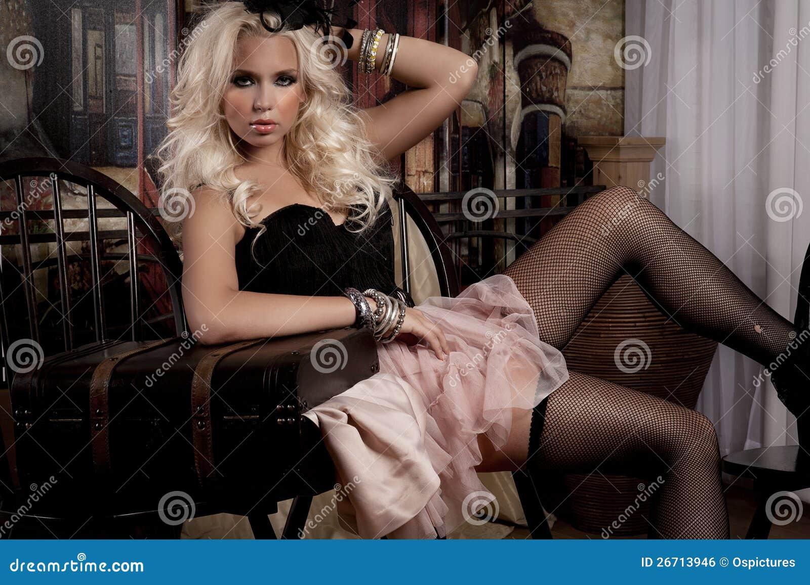 Modelo de forma  sexy  da mulher