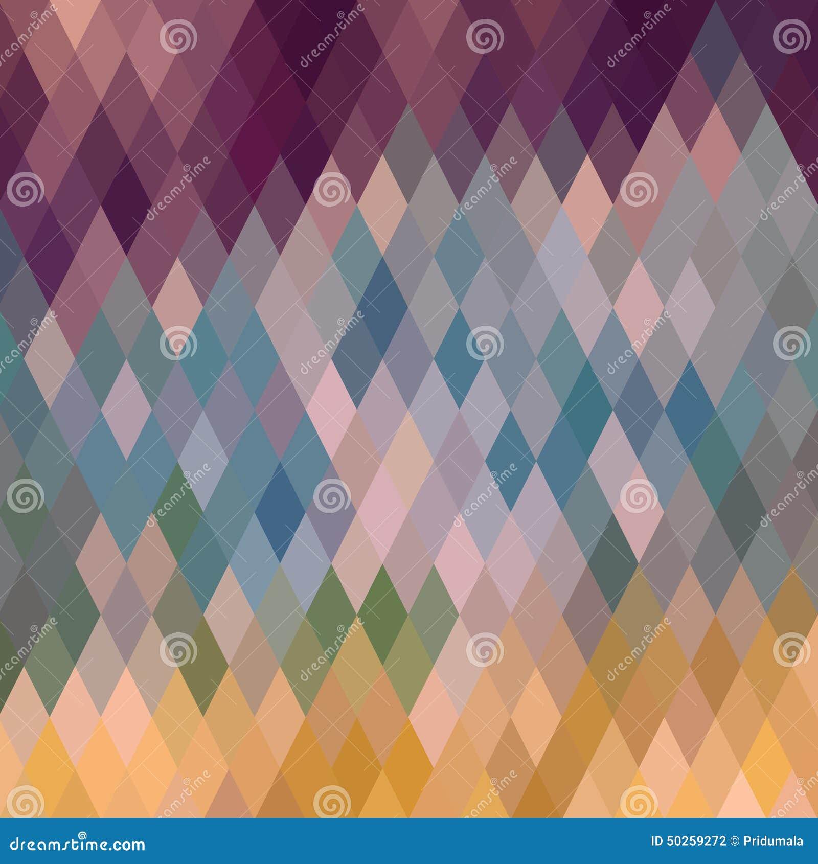 Modelo de formas geométricas, rombal Textura con el flujo de spectr