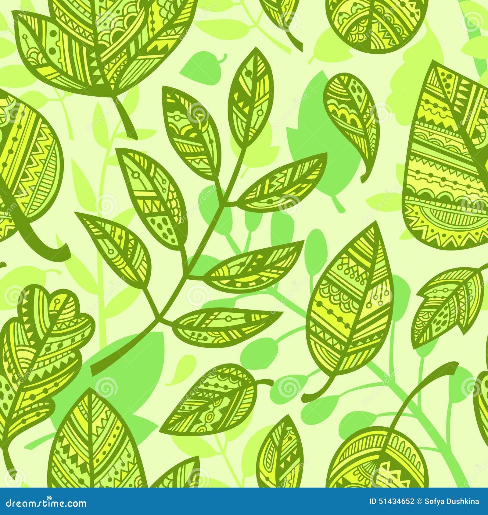Modelo de hojas verdes decorativas ilustraci n del vector - Fotos decorativas ...