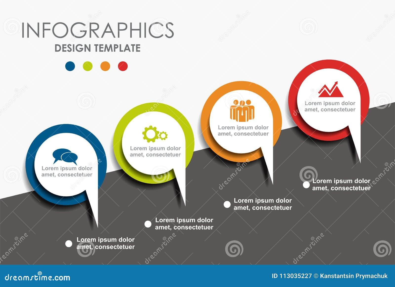 Modelo de Infographic Ilustración del vector Puede ser utilizado para la disposición del flujo de trabajo, diagrama, opciones del