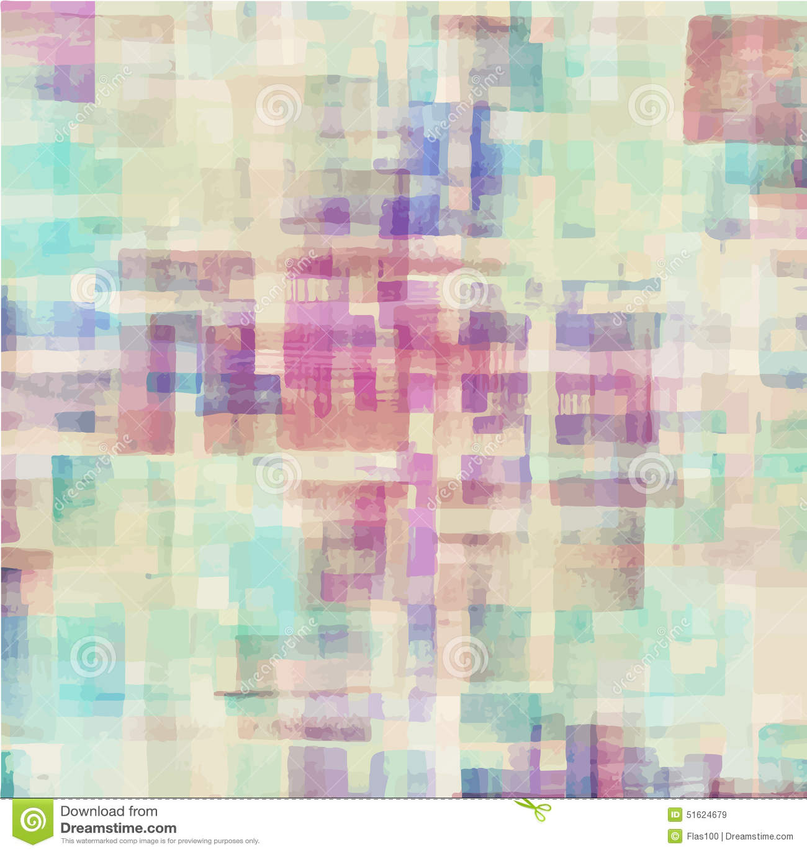 Modelo de la acuarela abstracta colorida geométrica