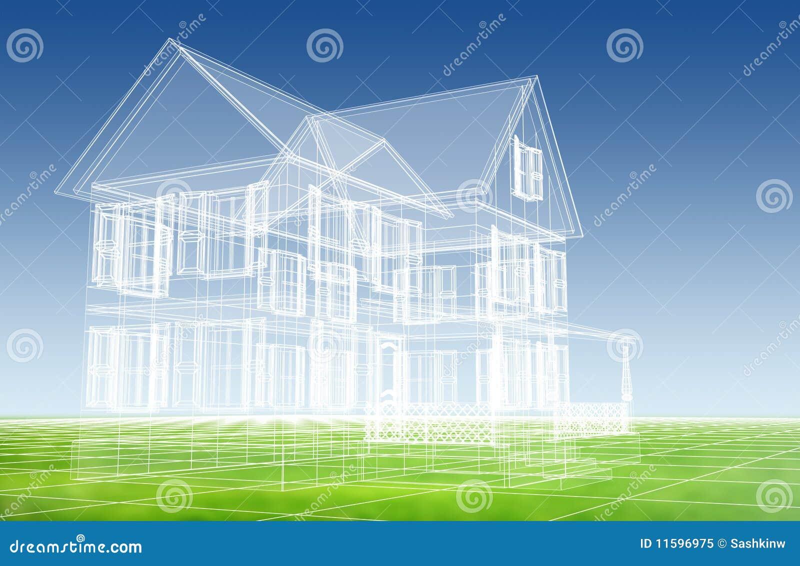 Modelo de la casa 3d