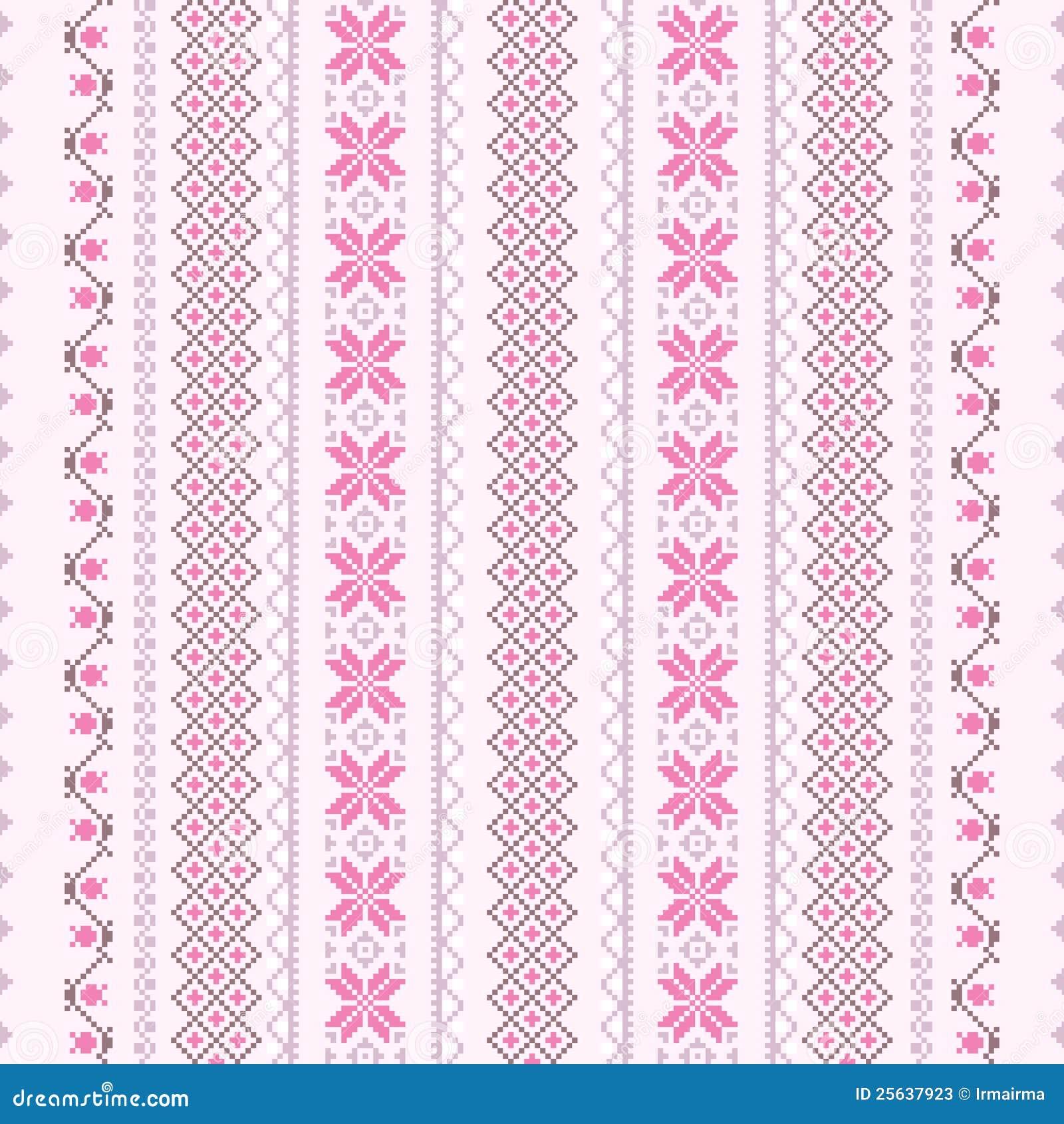 Modelo de la Cruz-puntada en color de rosa