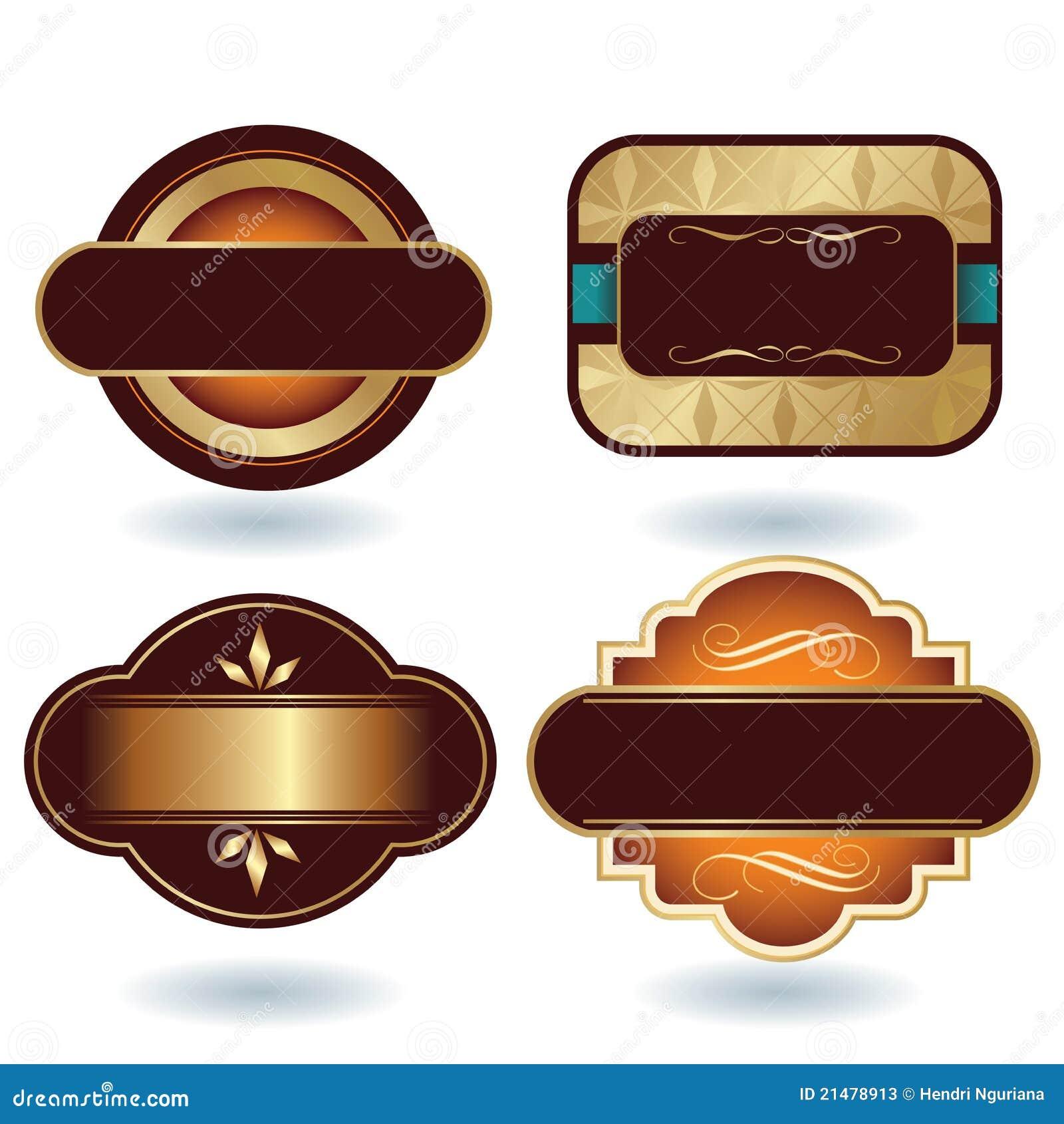 Modelo de la insignia del chocolate