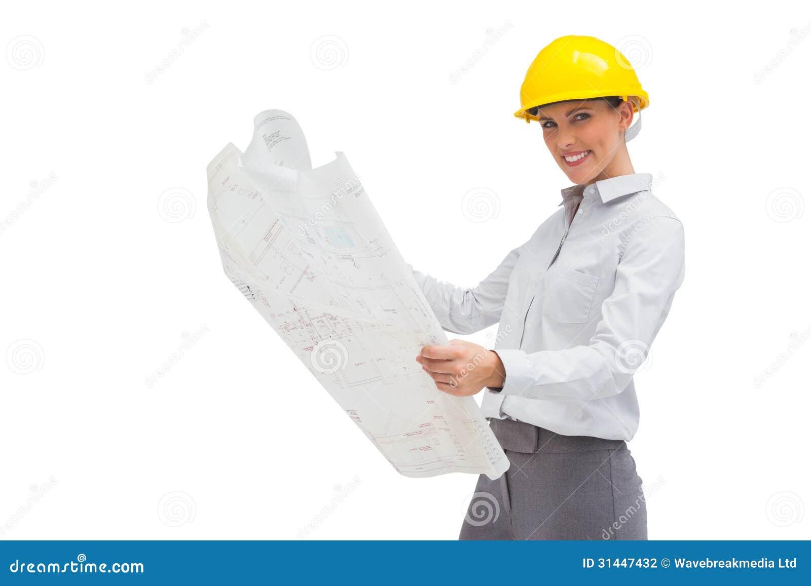 Modelo de la lectura del arquitecto con el casco amarillo for Todo para el arquitecto