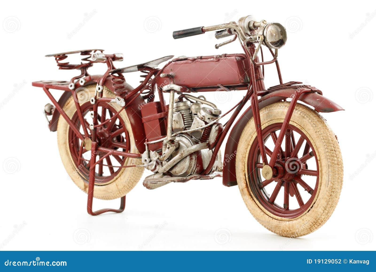 Modelo de la motocicleta del estaño