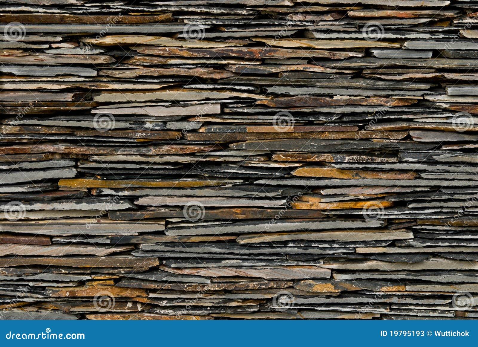 Modelo de la pared de piedra de la pizarra fotos de - Pared de piedra ...