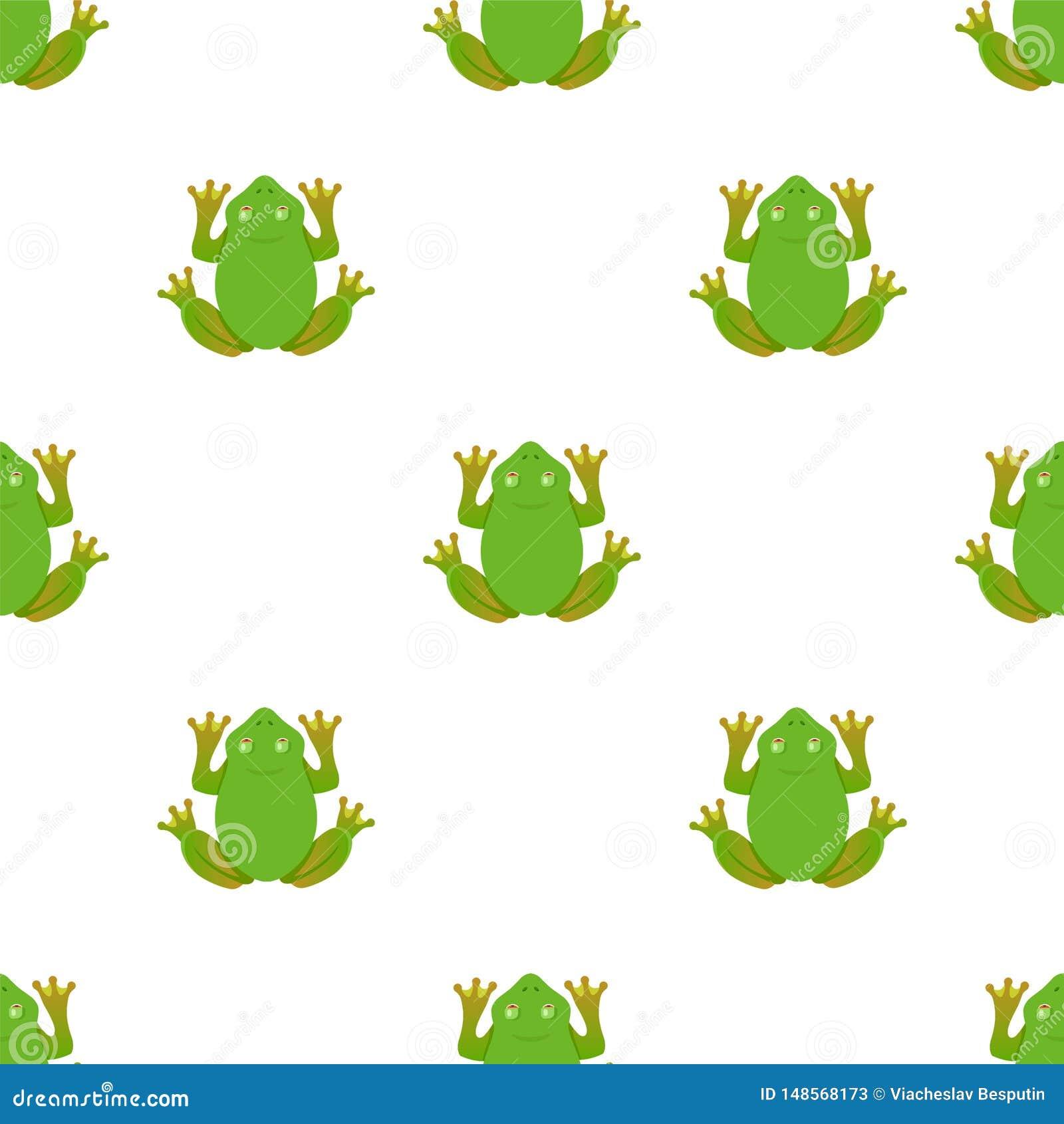 Modelo de la rana en un fondo blanco Ilustraci?n