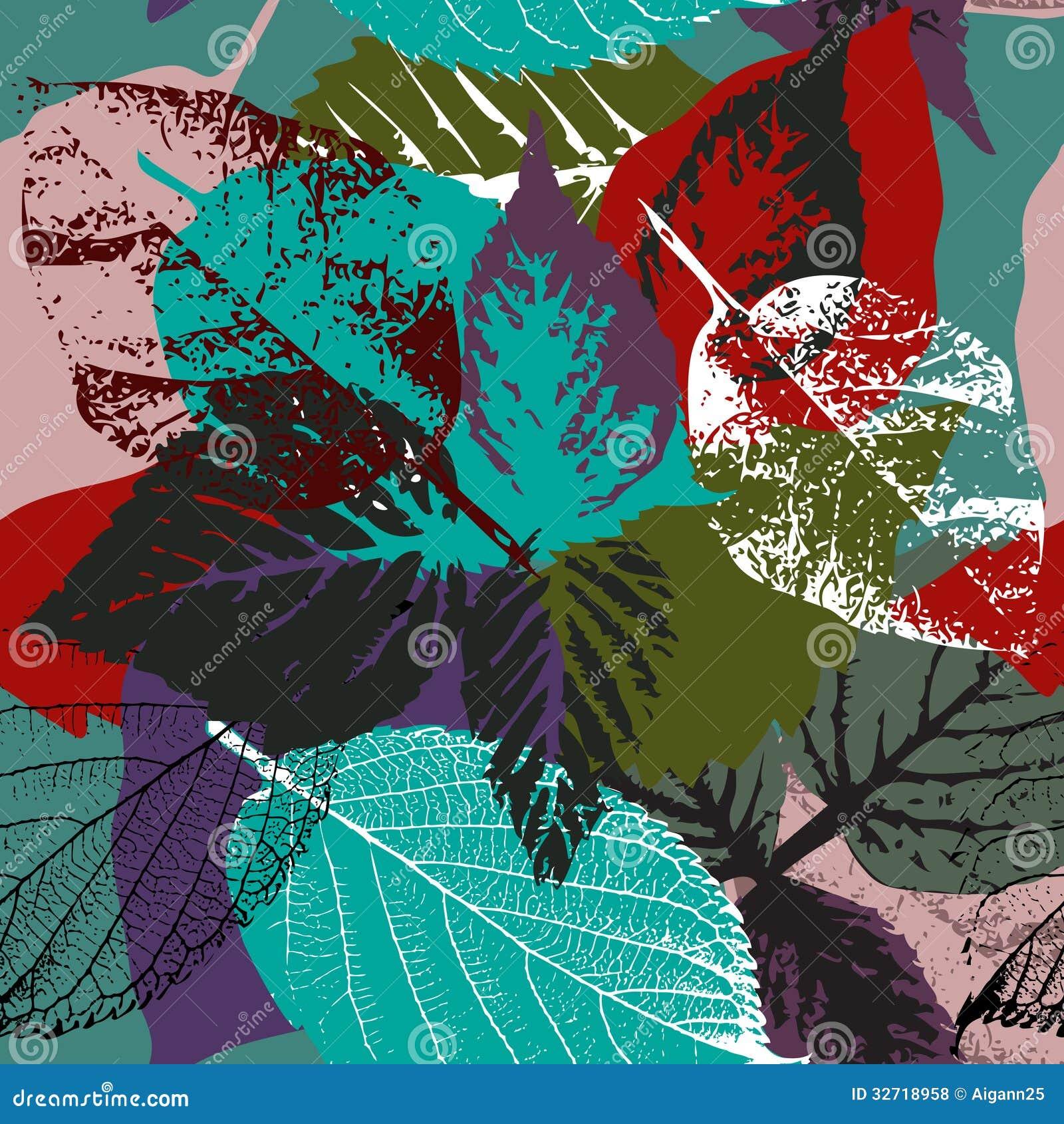 Modelo de las hojas de otoño