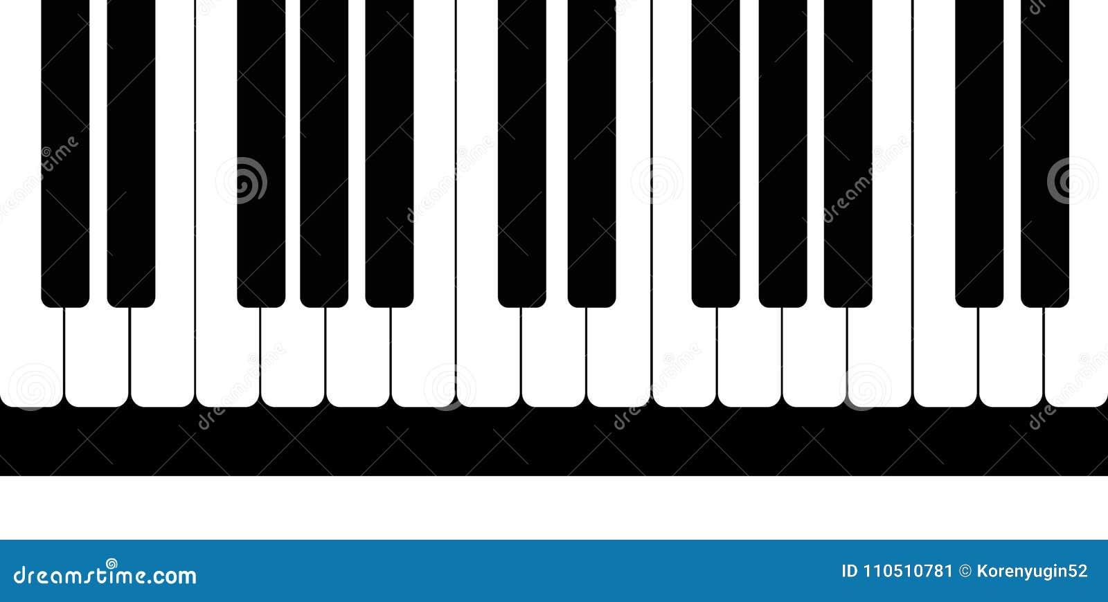 Modelo de llaves blancos y negros del piano Ilustración del vector