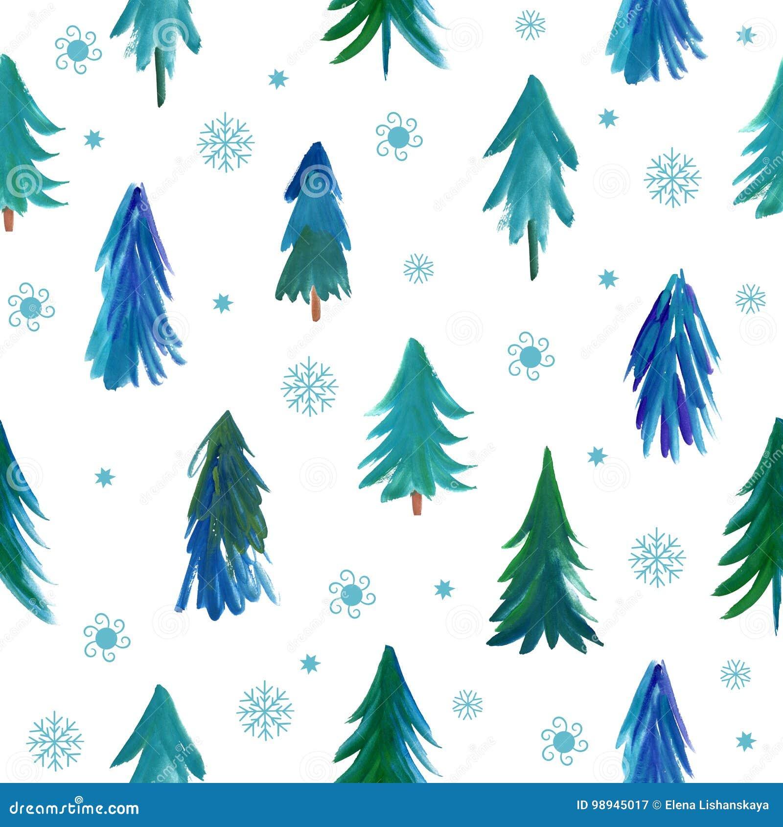 Modelo De Los árboles De Navidad Stock de ilustración - Ilustración ...