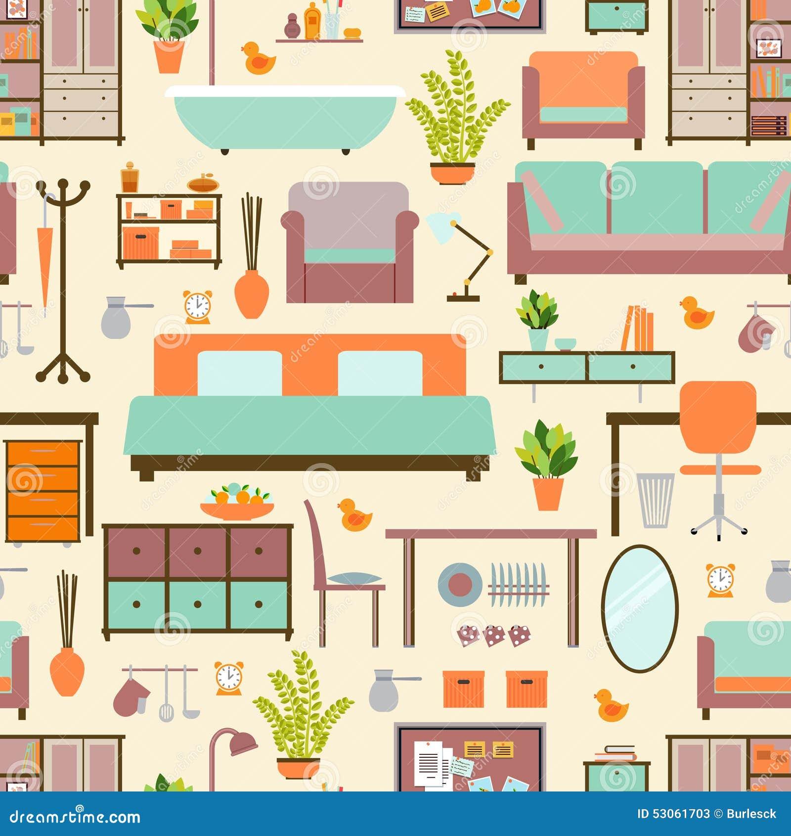 Modelo de los muebles de la casa ilustraci n del vector for Muebles de casa