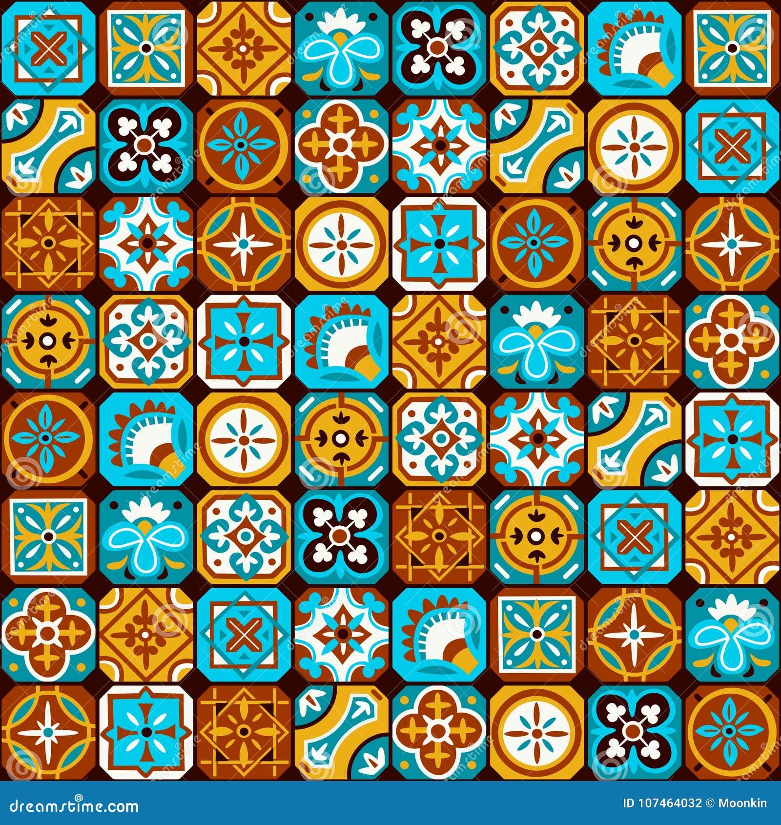 Modelo de mosaico árabe