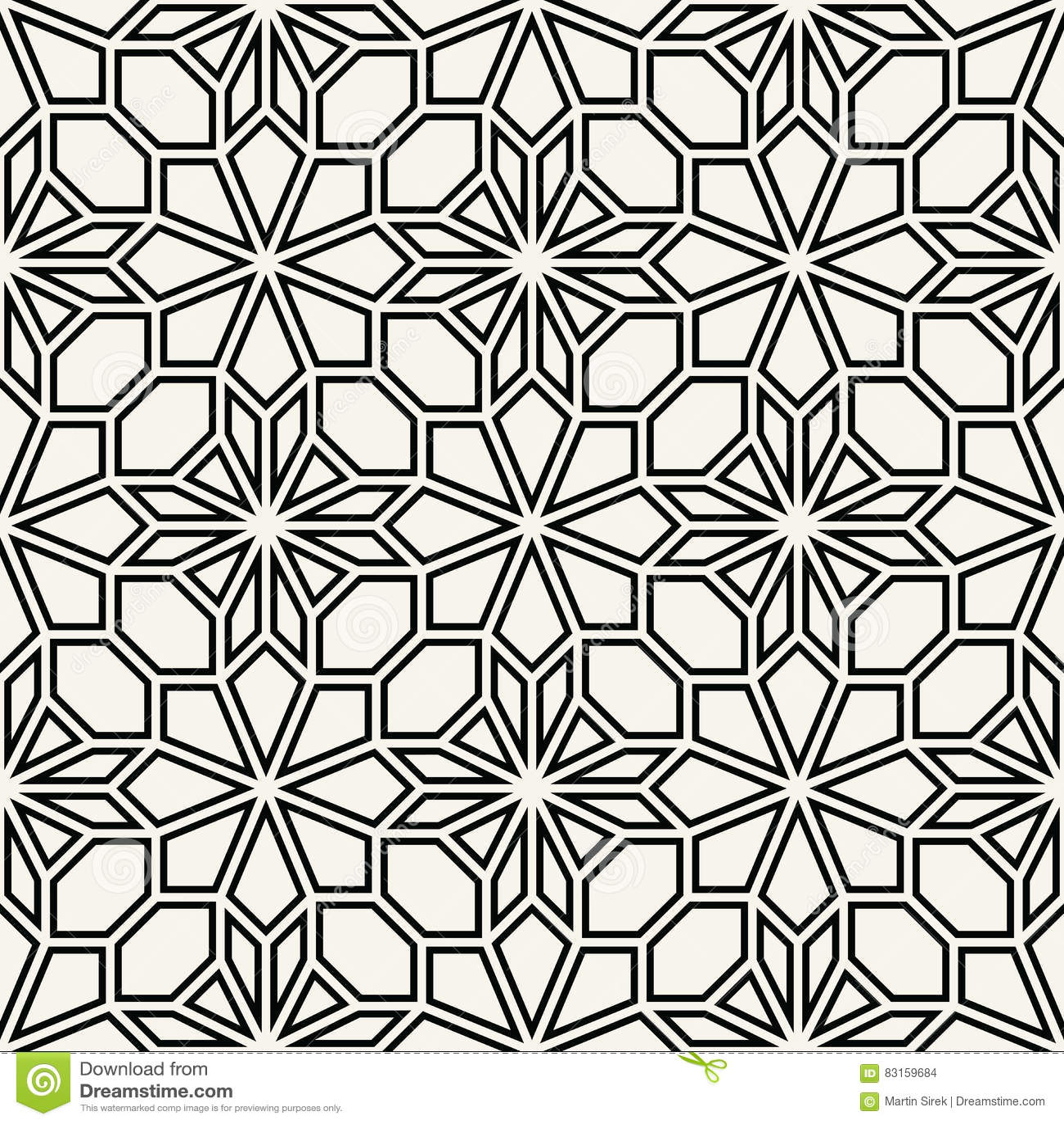 Modelo de mosaico blanco y negro geom trico abstracto de for Corredor deco blanco y negro