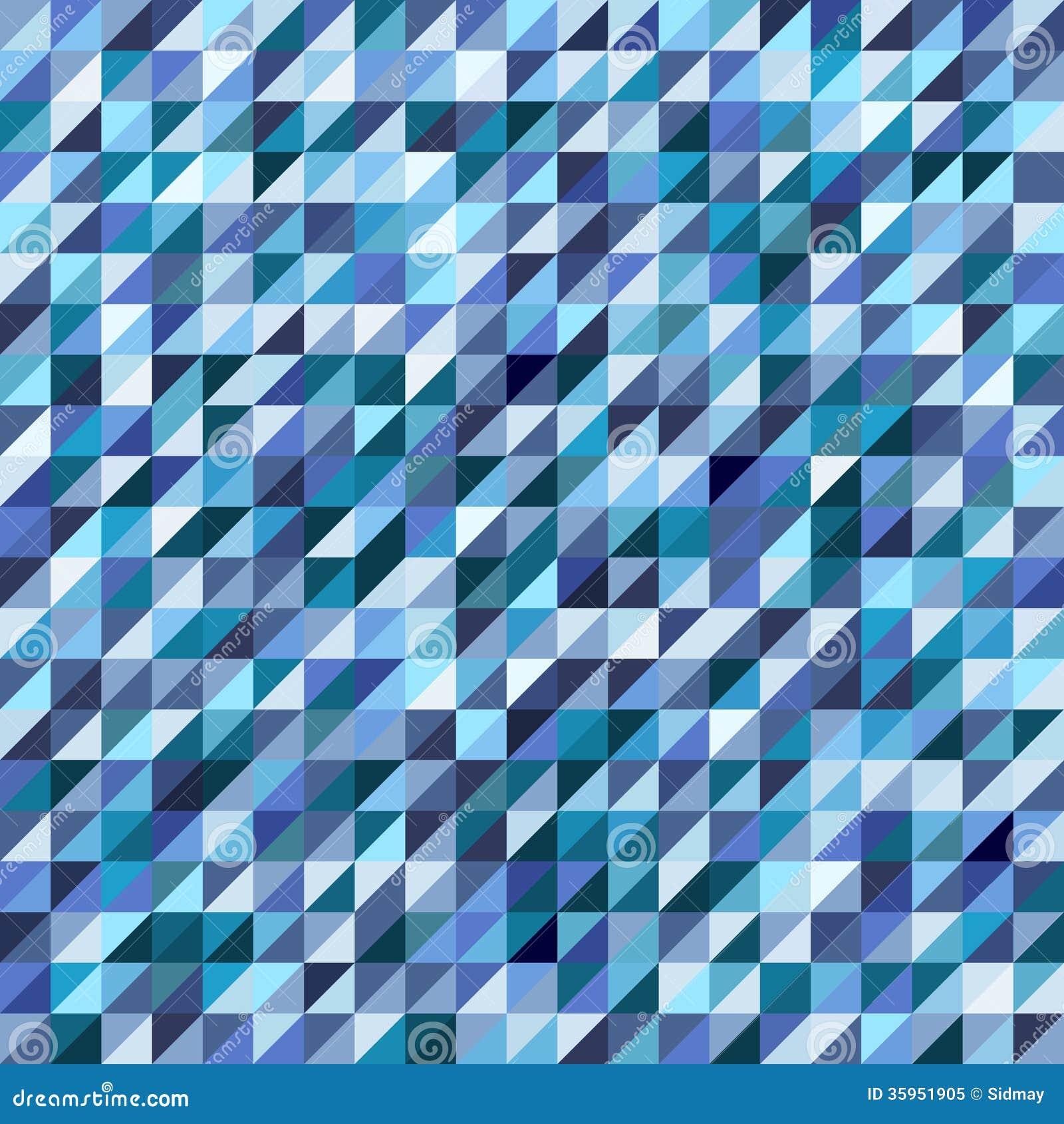 Modelo de mosaico geométrico del triángulo azul