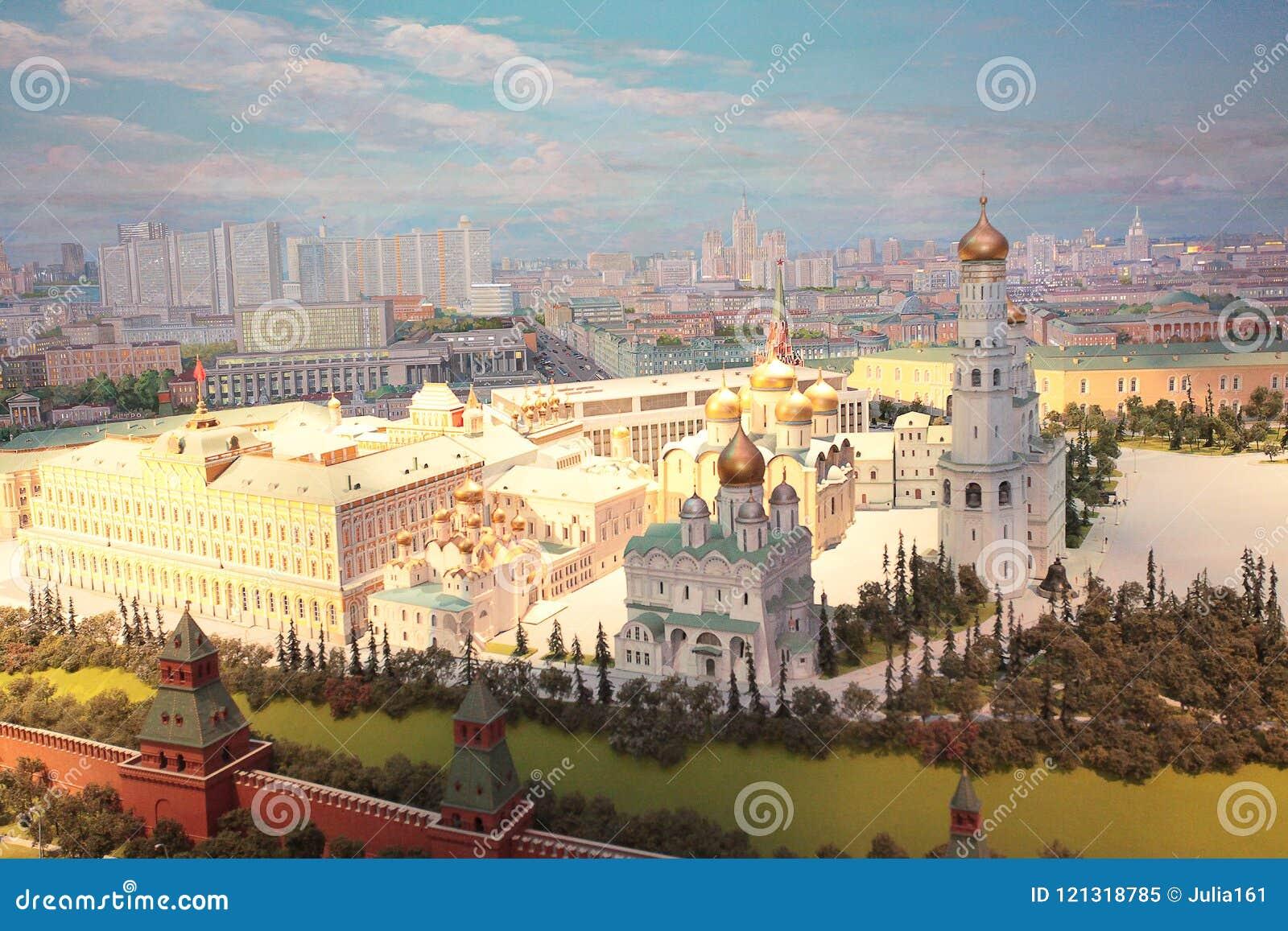 Modelo de Moscú el Kremlin en el hotel de Radisson Ucrania
