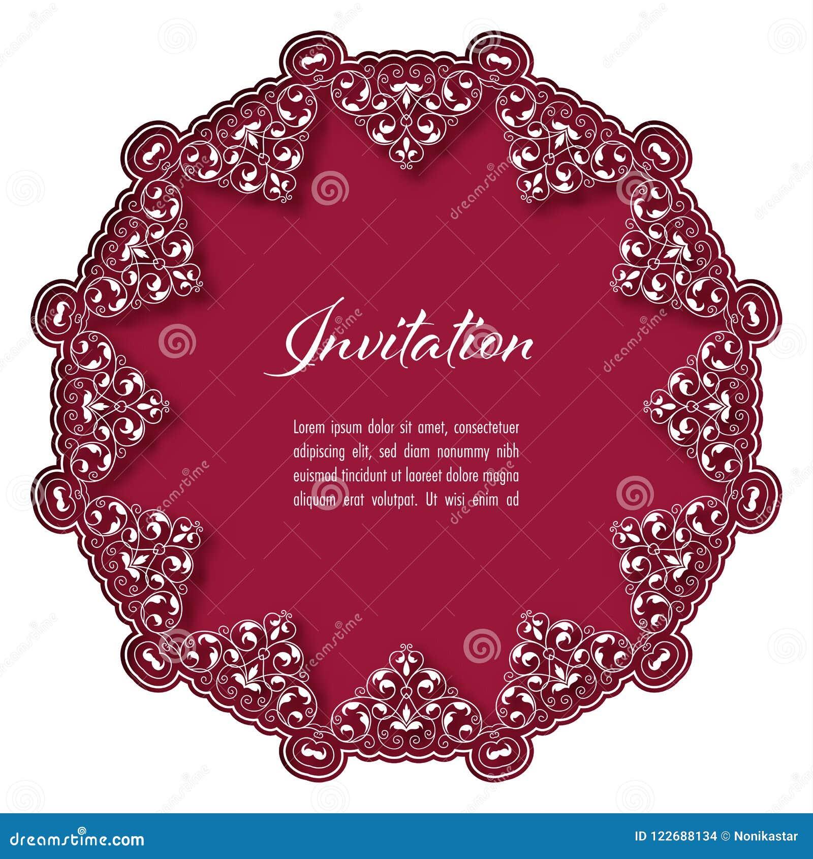 Modelo De Nvitation Con Floral Abstracto Ilustración del Vector ...