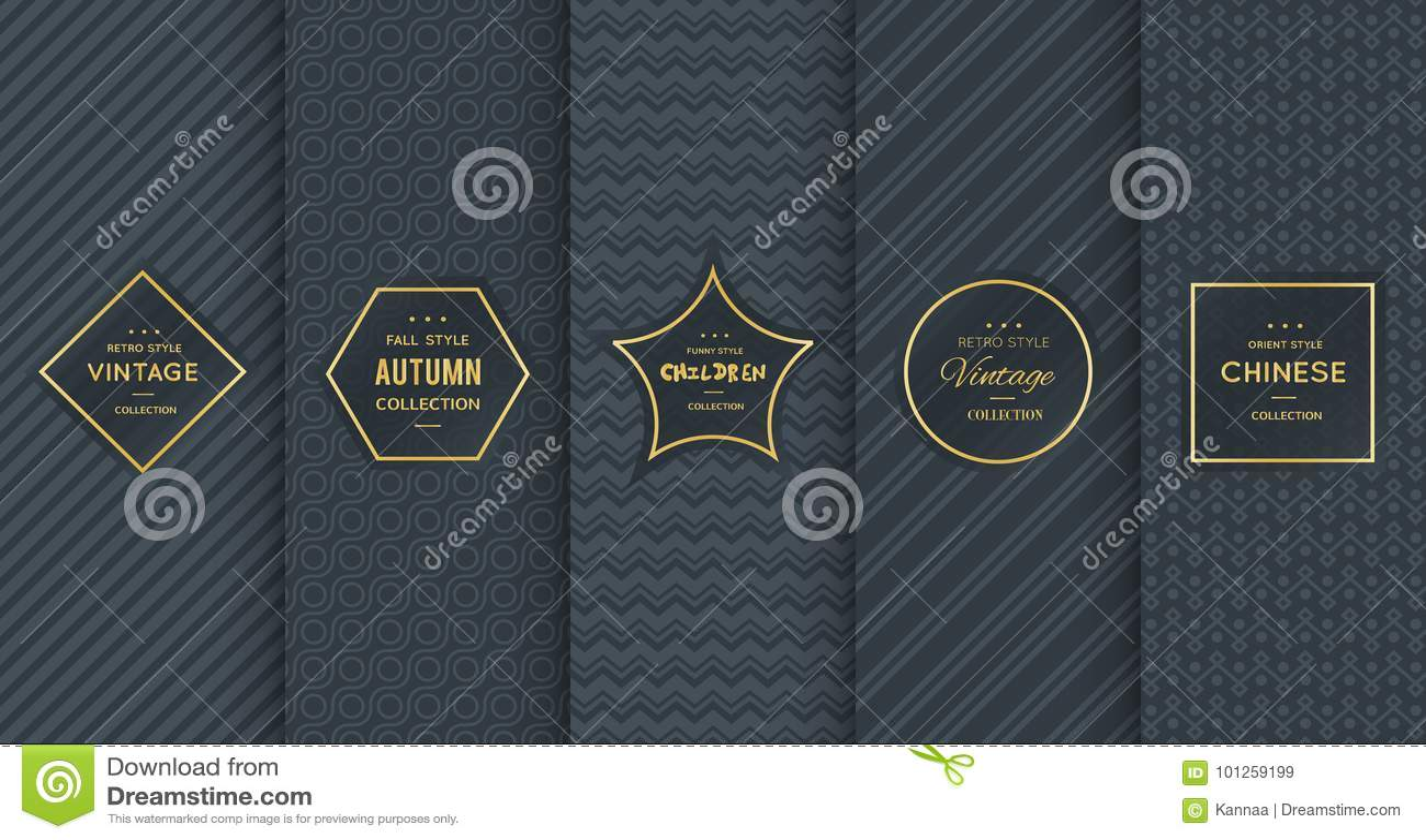 Modelo de oro del vintage en fondo negro