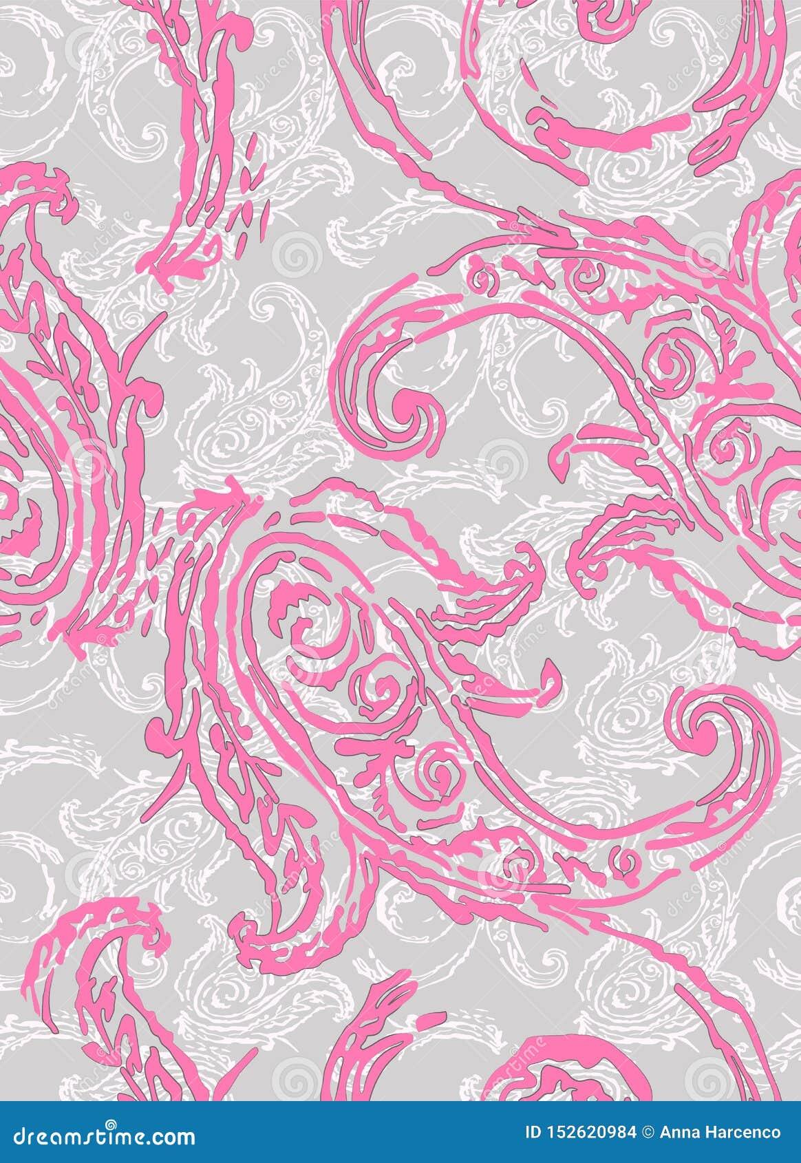 Modelo de Paisley Elementos étnicos tradicionales Pepino turco del ornamento inconsútil Adornos asiáticos para la moda, interior,