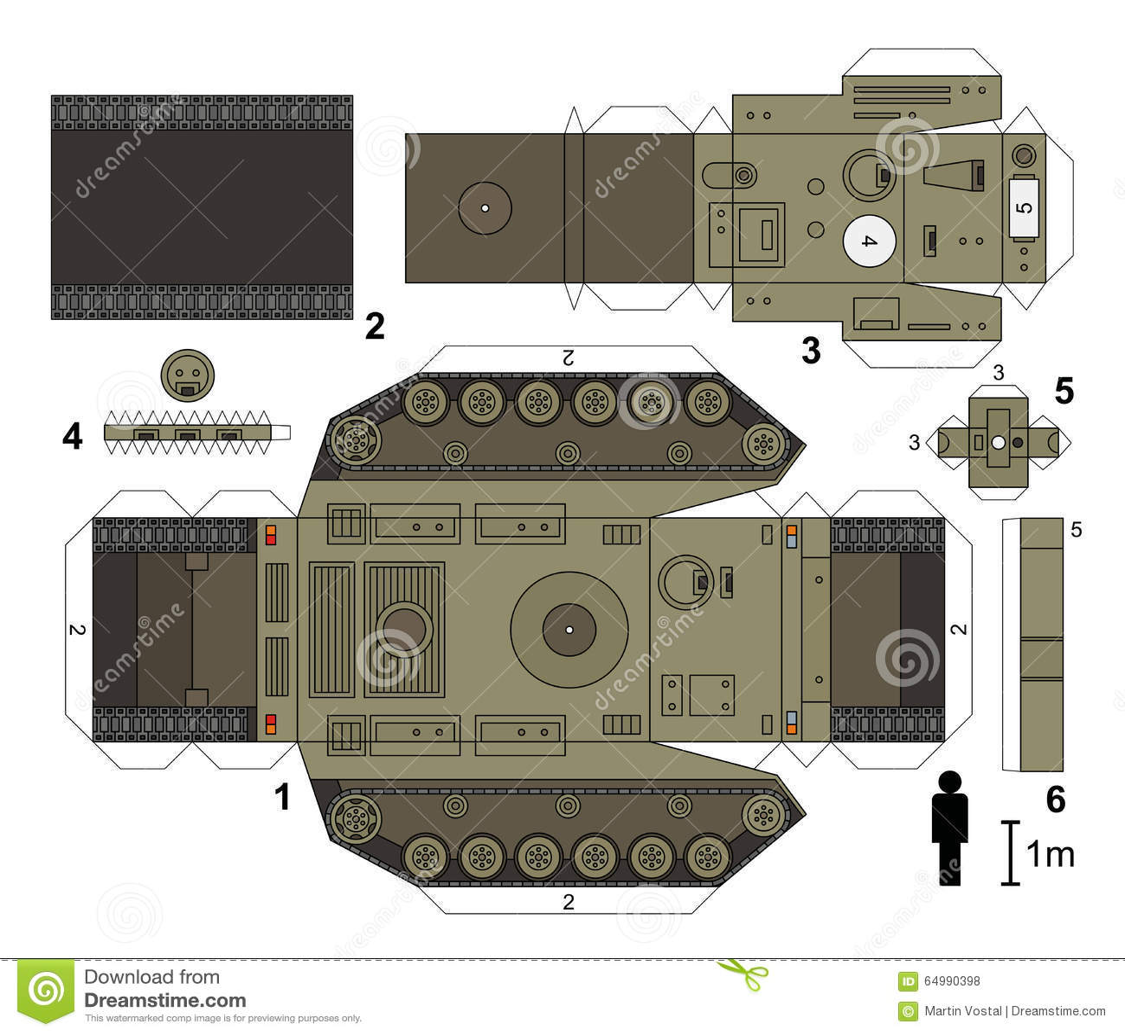 Easy Origami Army Tank