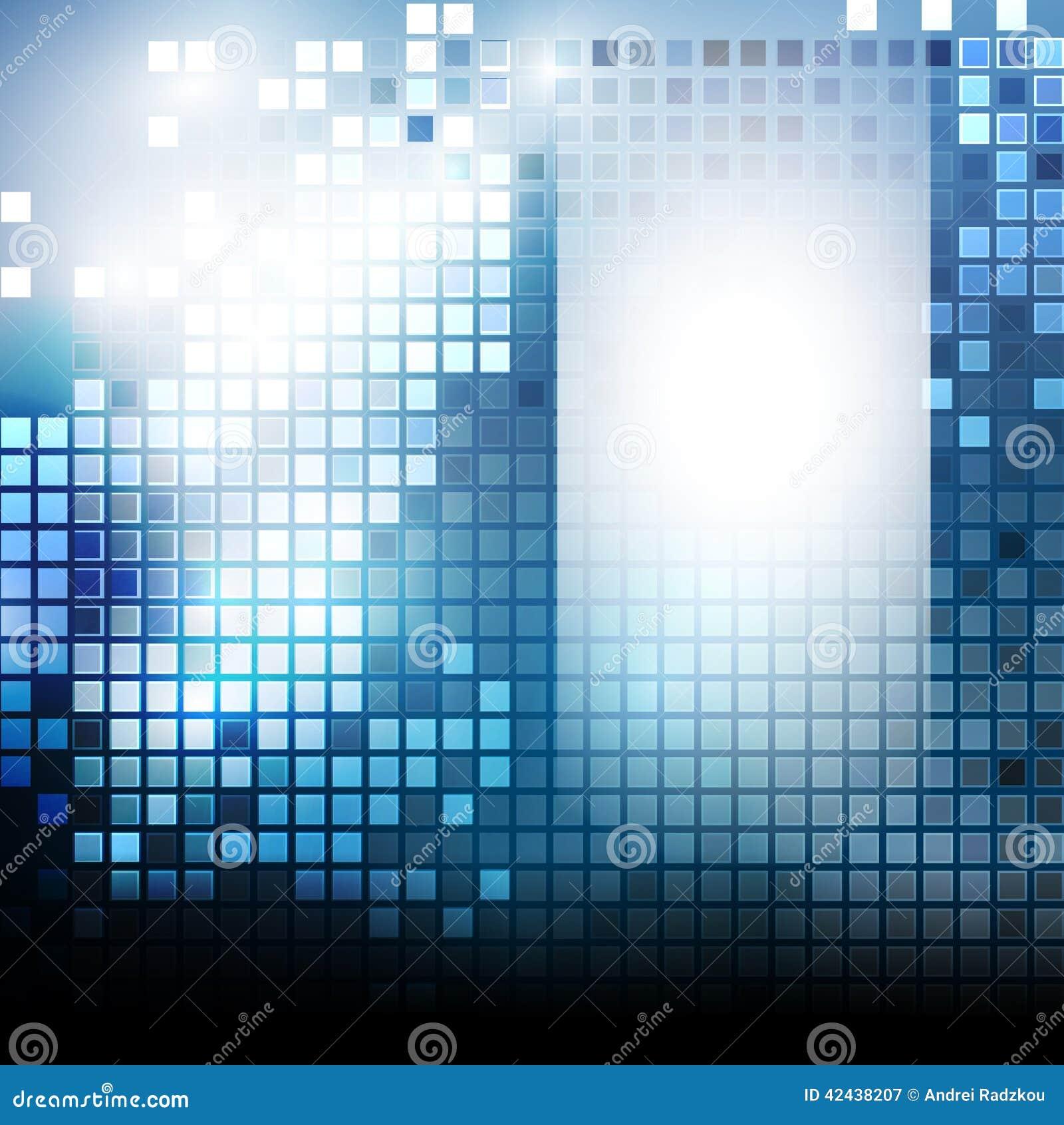 Modelo de Techno con los cuadrados azules