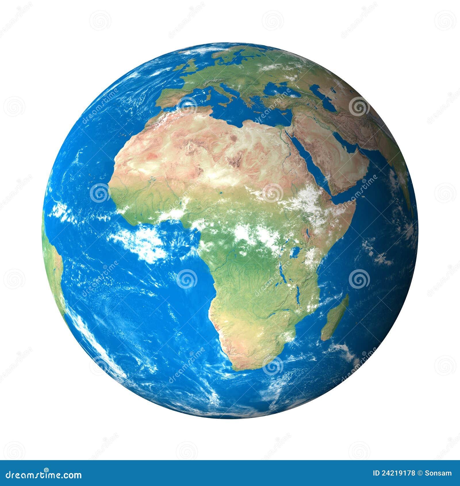 Modelo de terra do espaço: Opinião de África